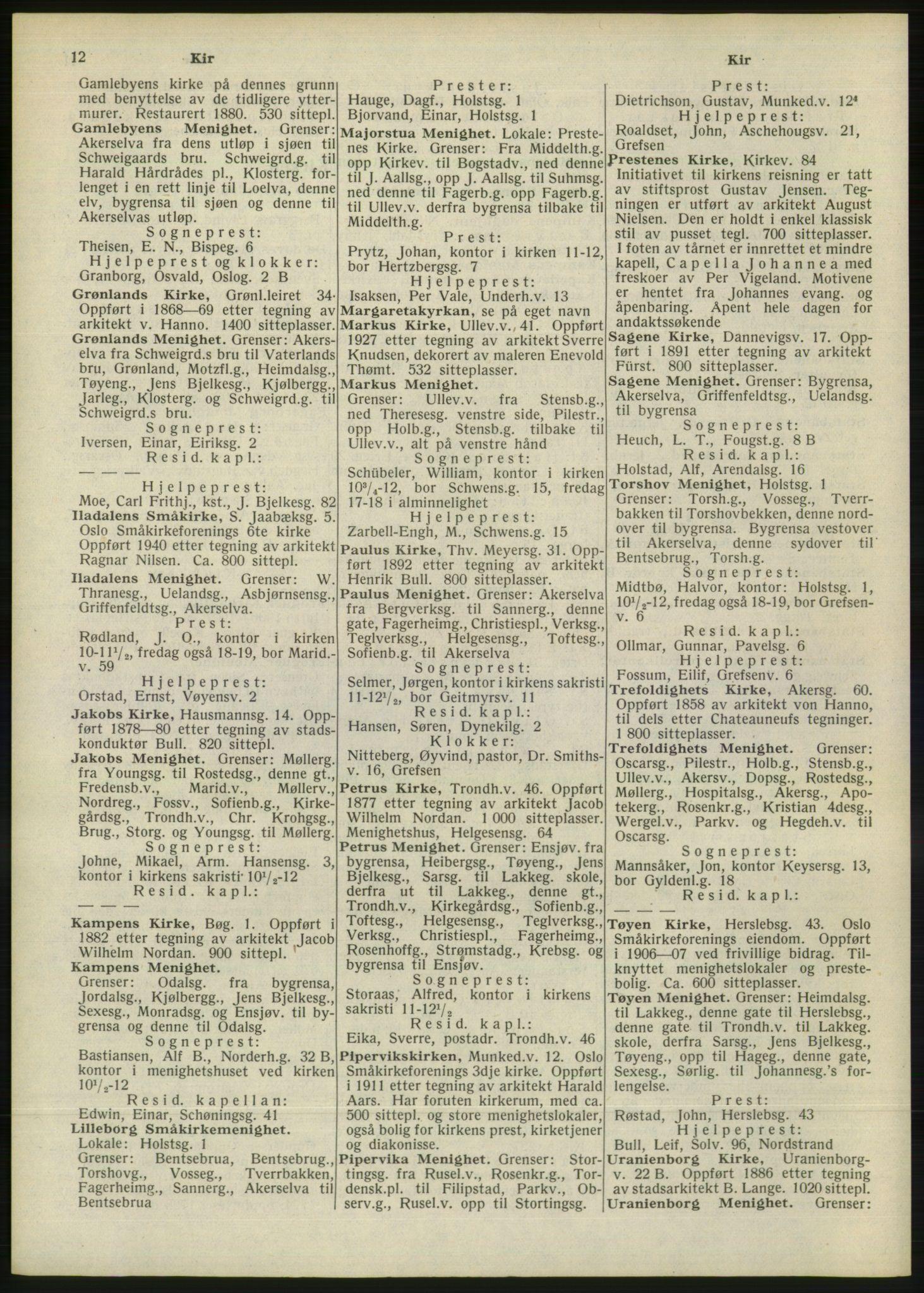 RA, Oslo adressebok (publikasjon)*, 1946, s. 12