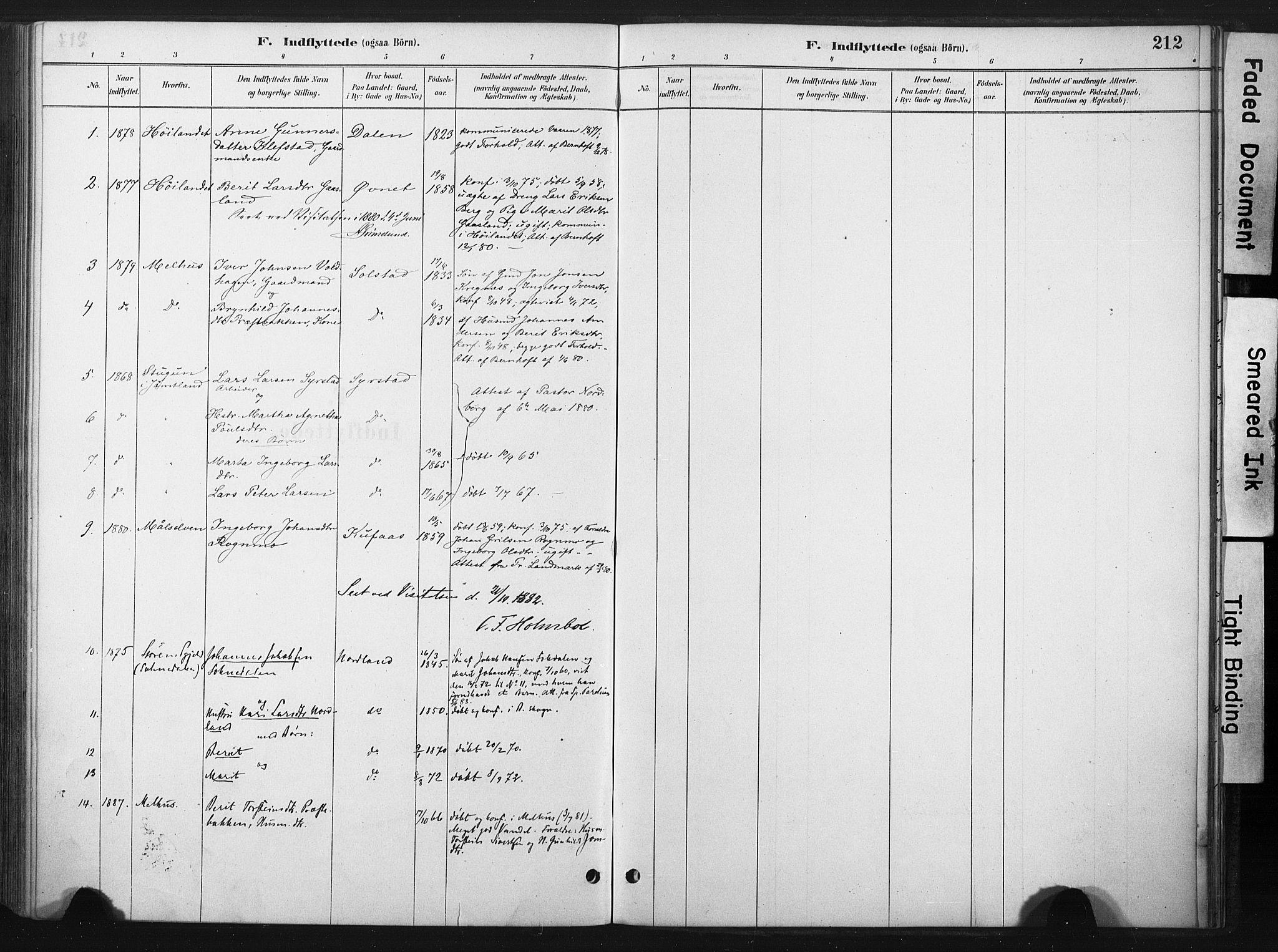 SAT, Ministerialprotokoller, klokkerbøker og fødselsregistre - Sør-Trøndelag, 667/L0795: Ministerialbok nr. 667A03, 1879-1907, s. 212