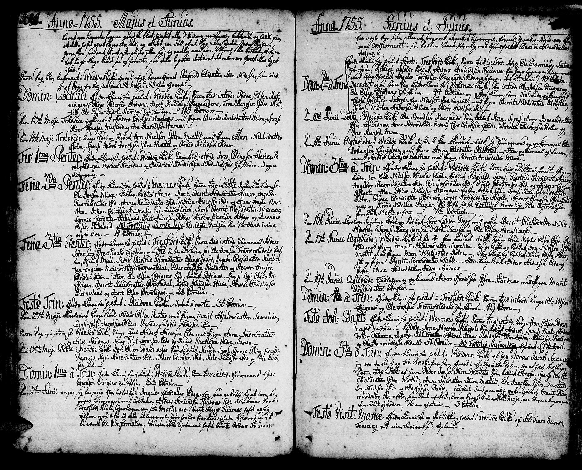 SAT, Ministerialprotokoller, klokkerbøker og fødselsregistre - Møre og Romsdal, 547/L0599: Ministerialbok nr. 547A01, 1721-1764, s. 399-400