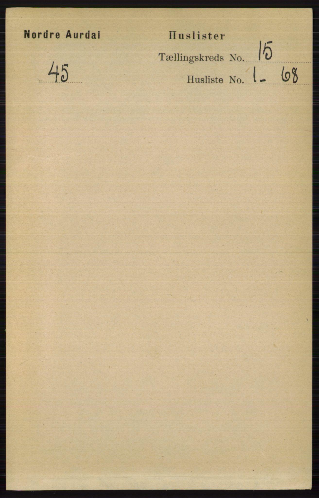 RA, Folketelling 1891 for 0542 Nord-Aurdal herred, 1891, s. 5669