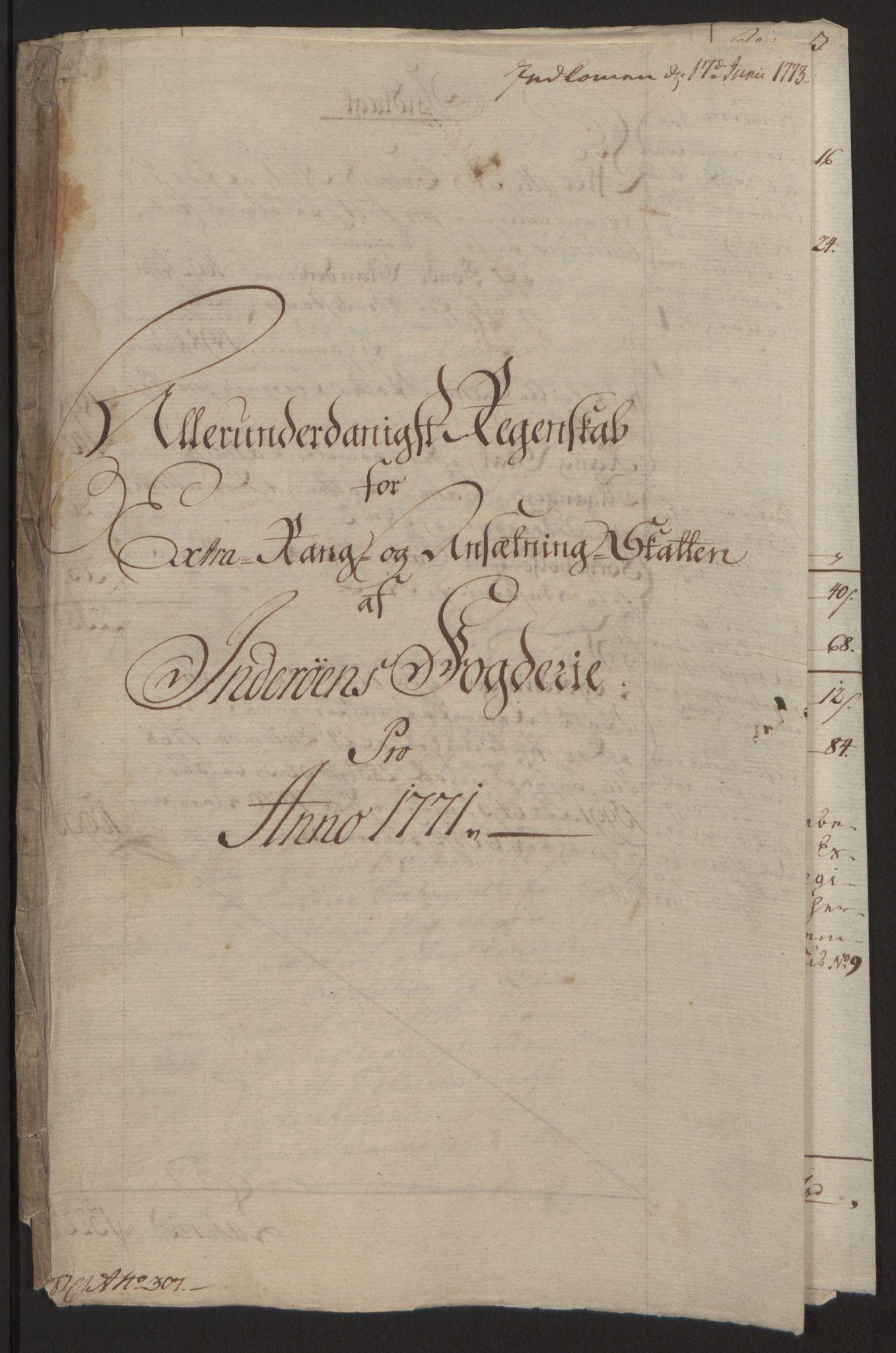 RA, Rentekammeret inntil 1814, Reviderte regnskaper, Fogderegnskap, R63/L4420: Ekstraskatten Inderøy, 1762-1772, s. 410