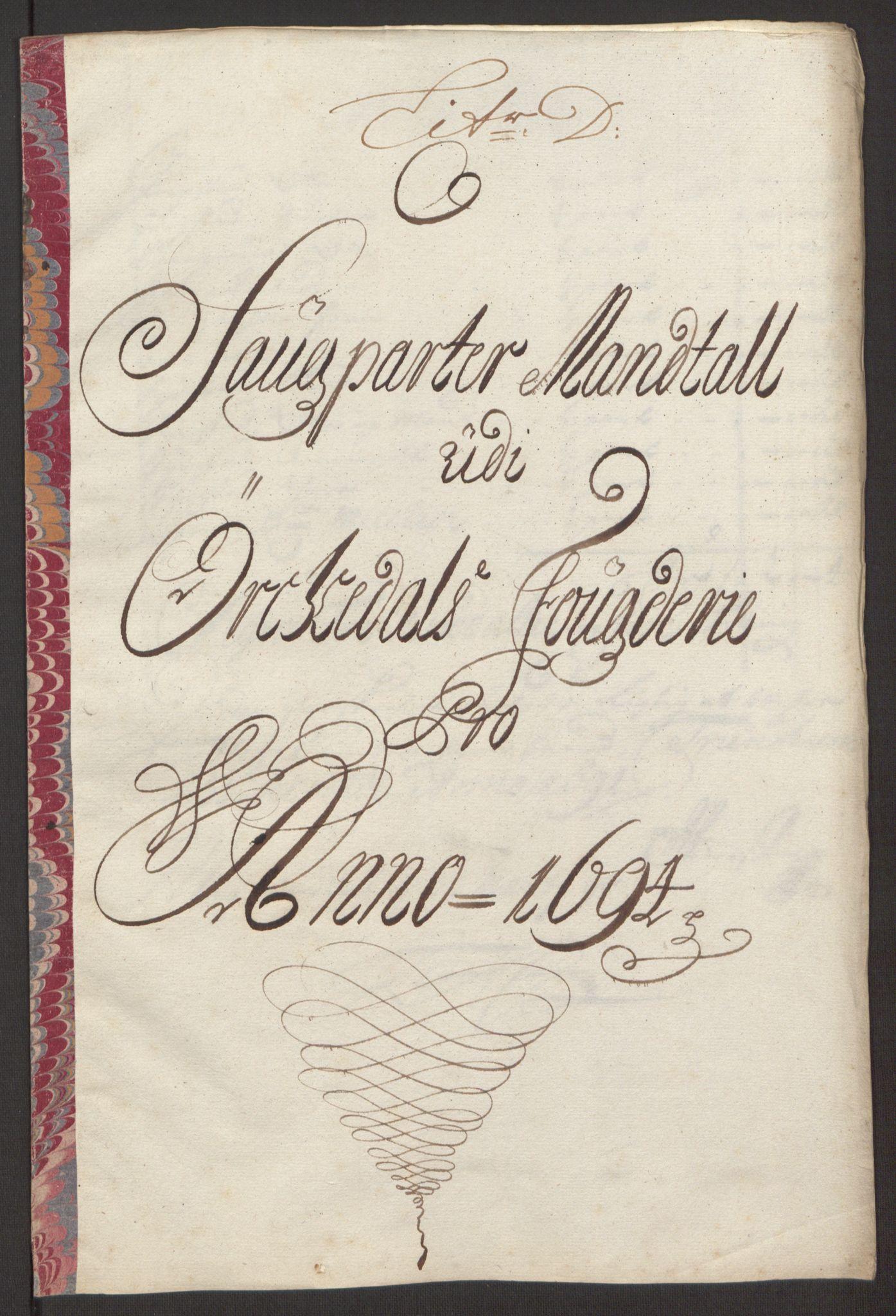 RA, Rentekammeret inntil 1814, Reviderte regnskaper, Fogderegnskap, R60/L3944: Fogderegnskap Orkdal og Gauldal, 1694, s. 80