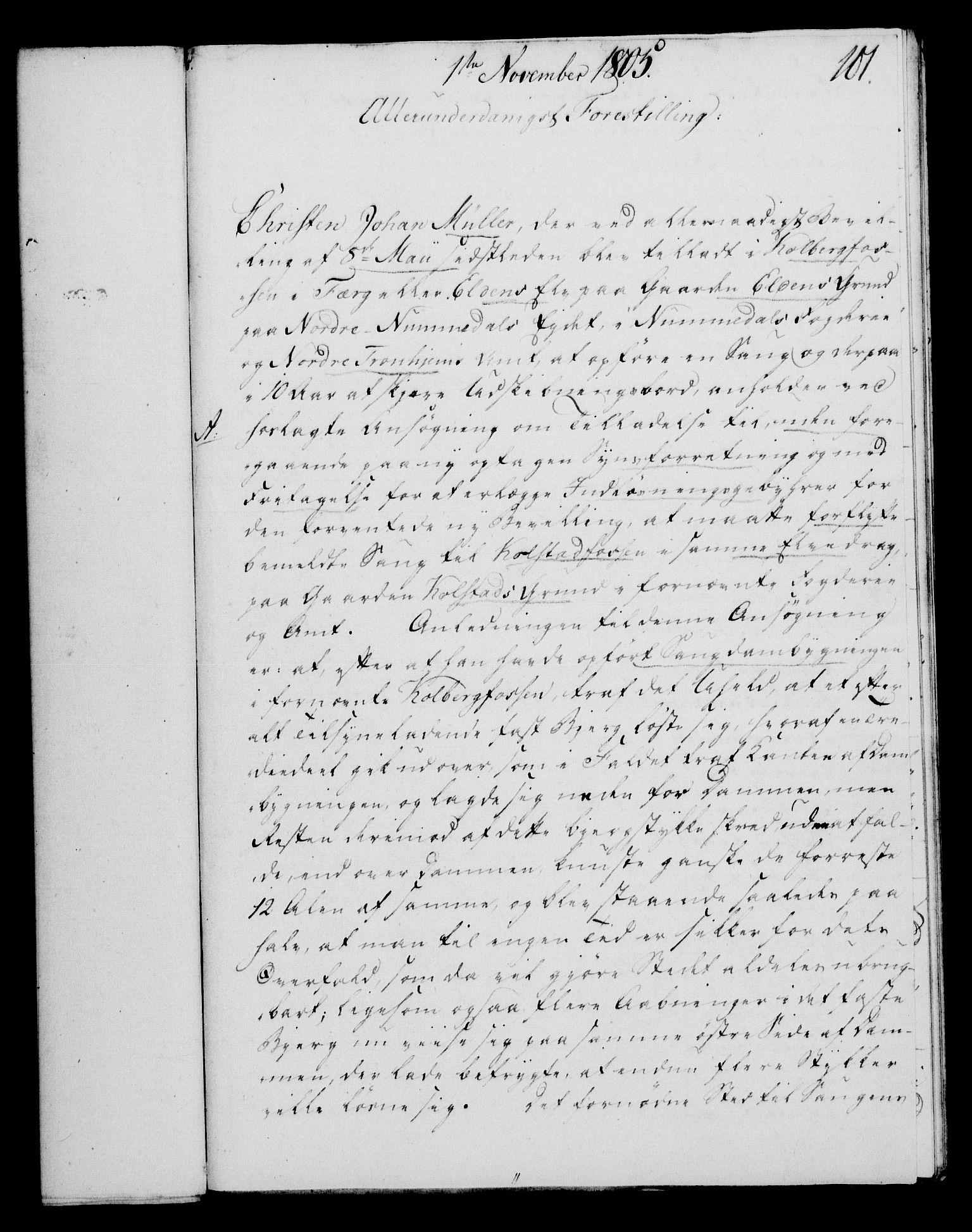 RA, Rentekammeret, Kammerkanselliet, G/Gf/Gfa/L0087: Norsk relasjons- og resolusjonsprotokoll (merket RK 52.87), 1805, s. 571
