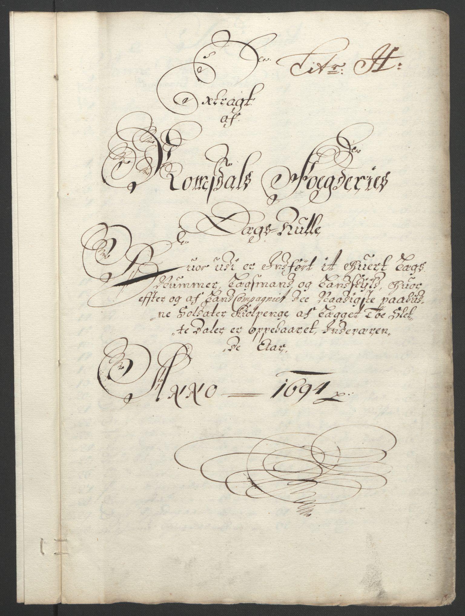 RA, Rentekammeret inntil 1814, Reviderte regnskaper, Fogderegnskap, R55/L3651: Fogderegnskap Romsdal, 1693-1694, s. 250