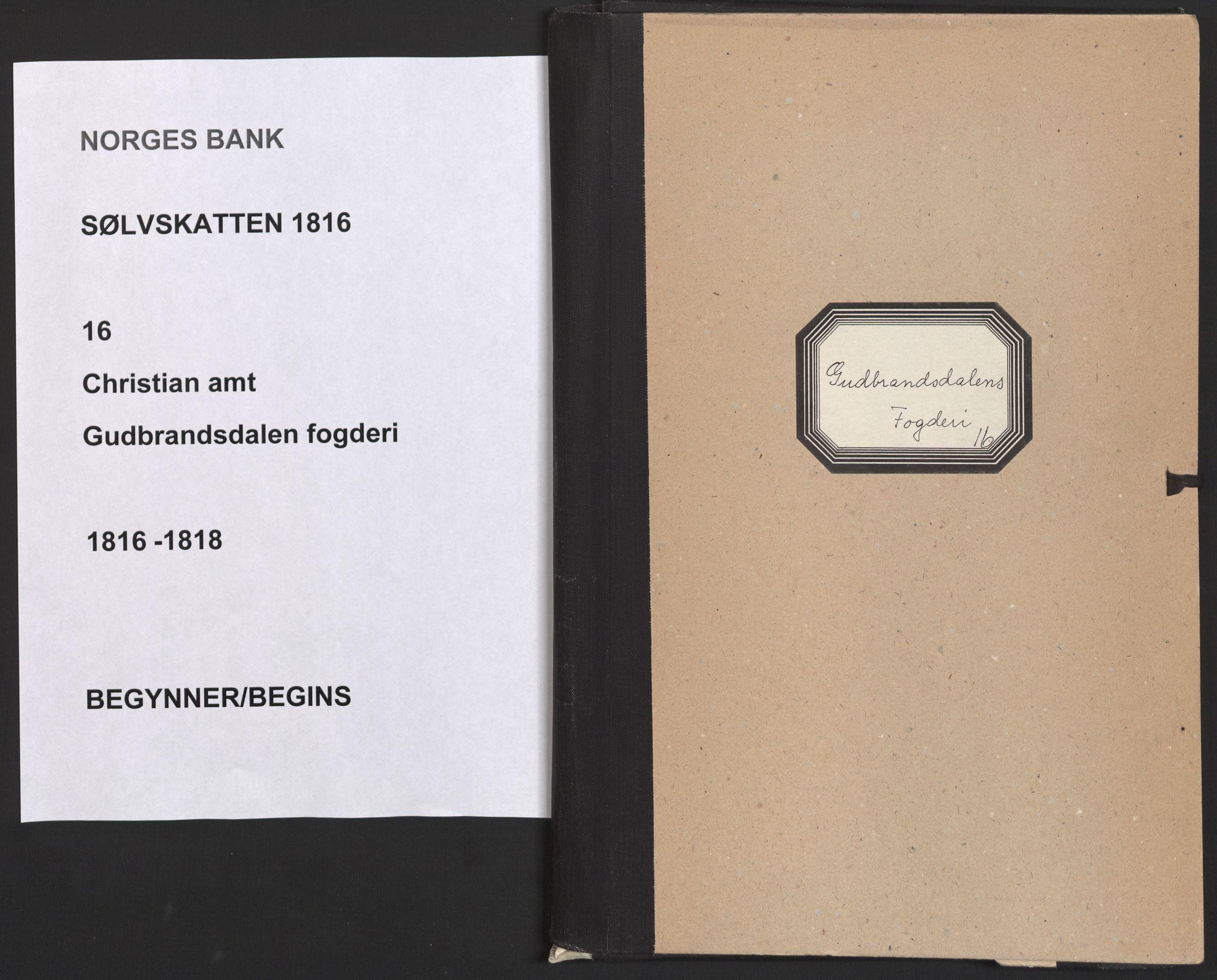 NOBA, Norges Bank/Sølvskatten 1816*, 1816-1818, s. 1
