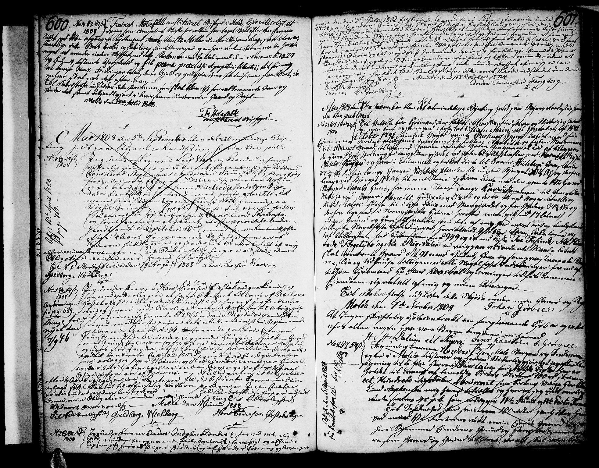 SAT, Molde byfogd, 2/2C/L0001: Pantebok nr. 1, 1748-1823, s. 600-601