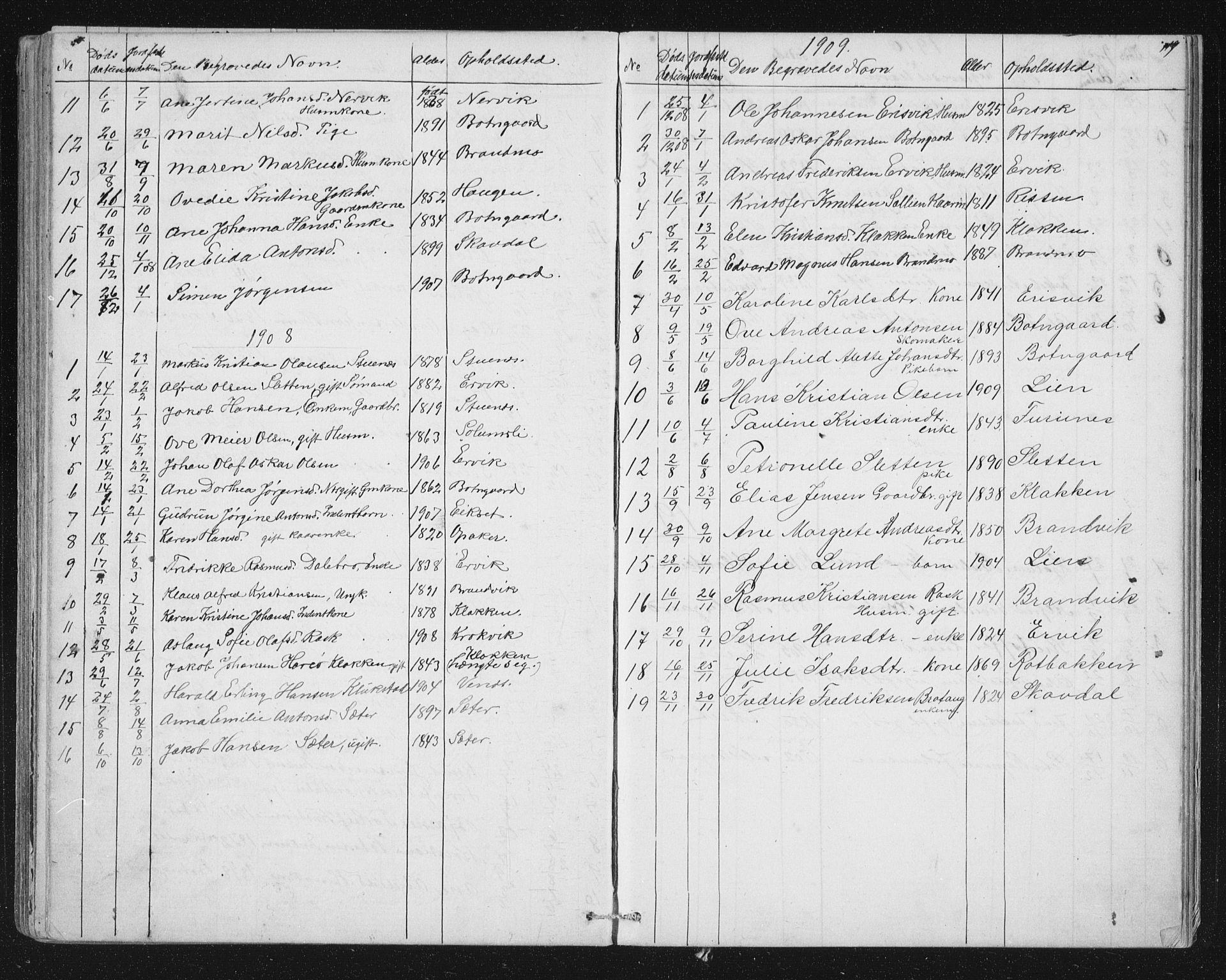 SAT, Ministerialprotokoller, klokkerbøker og fødselsregistre - Sør-Trøndelag, 651/L0647: Klokkerbok nr. 651C01, 1866-1914, s. 119