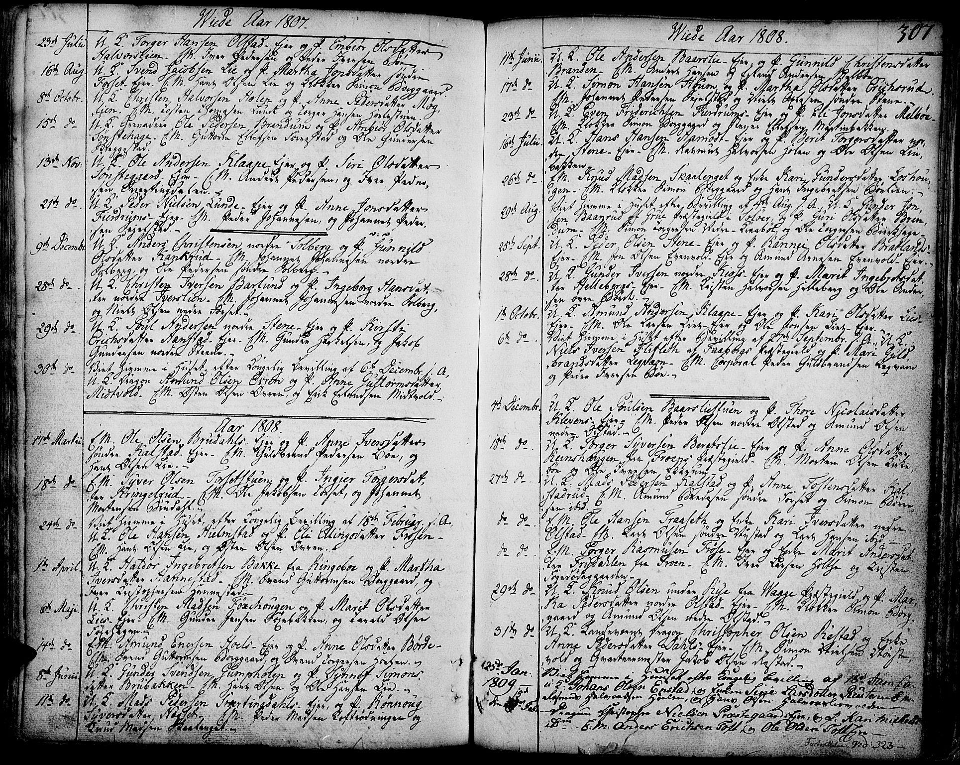 SAH, Gausdal prestekontor, Ministerialbok nr. 3, 1758-1809, s. 307