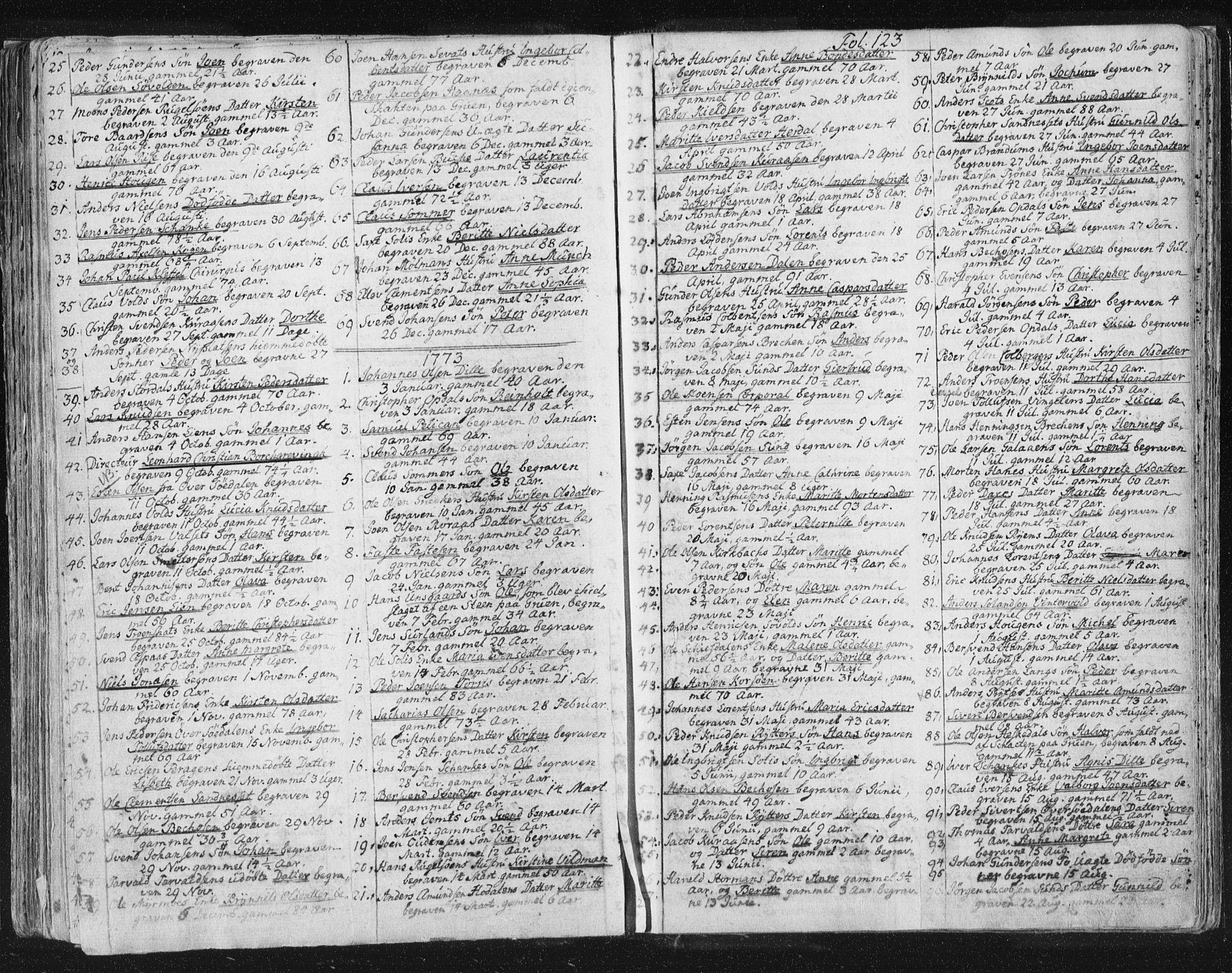 SAT, Ministerialprotokoller, klokkerbøker og fødselsregistre - Sør-Trøndelag, 681/L0926: Ministerialbok nr. 681A04, 1767-1797, s. 123