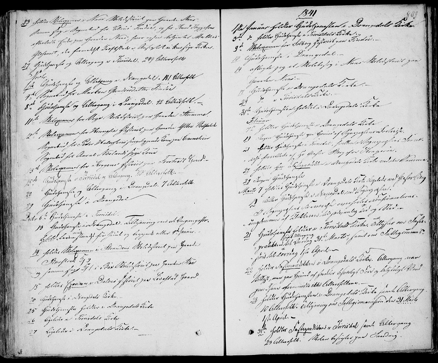 SAKO, Drangedal kirkebøker, F/Fa/L0007b: Ministerialbok nr. 7b, 1837-1856, s. 809