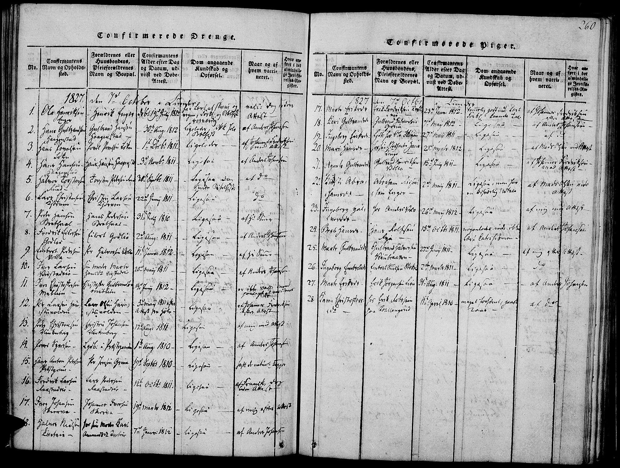 SAH, Jevnaker prestekontor, Ministerialbok nr. 5, 1815-1837, s. 260