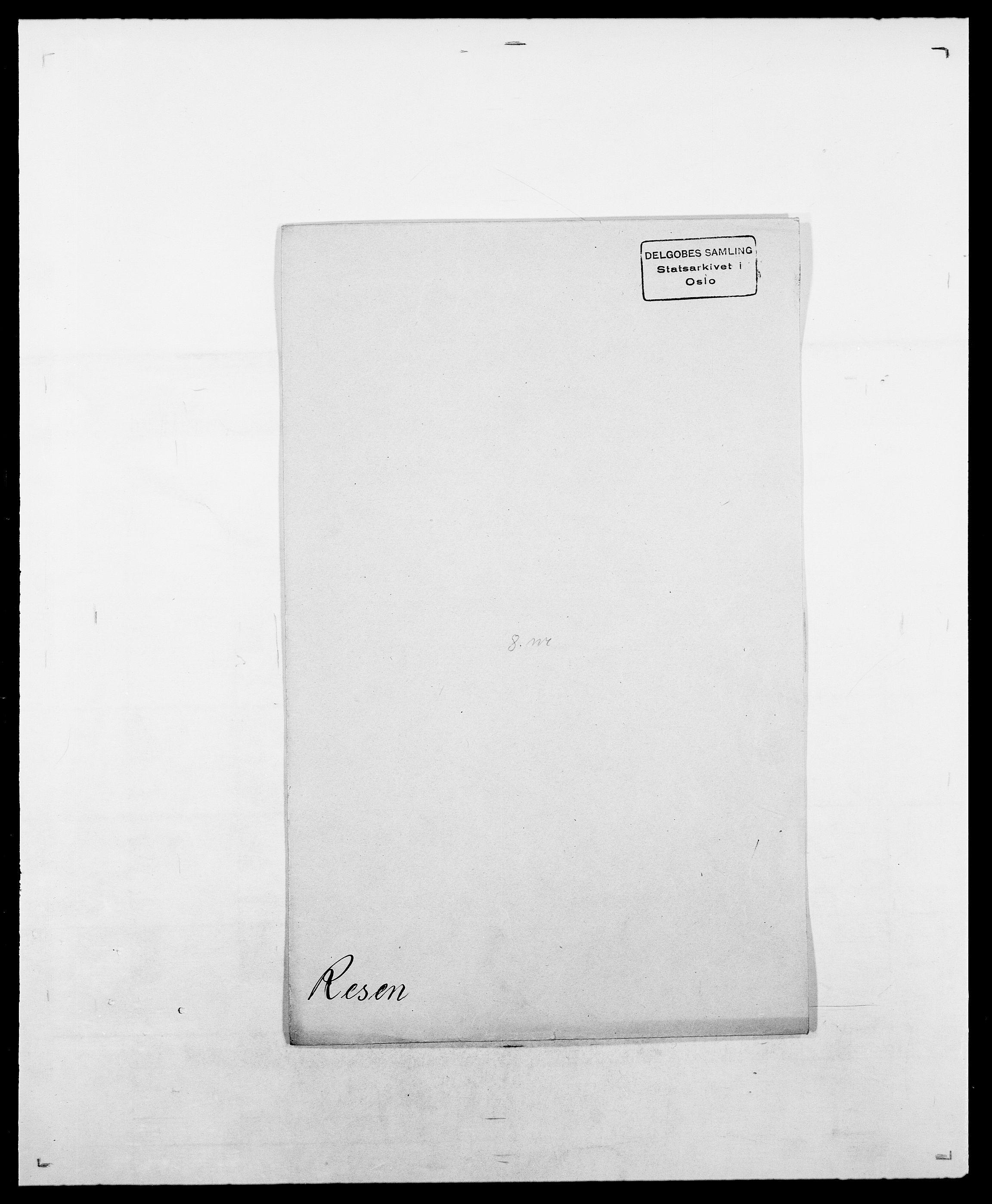 SAO, Delgobe, Charles Antoine - samling, D/Da/L0032: Rabakovsky - Rivertz, s. 423