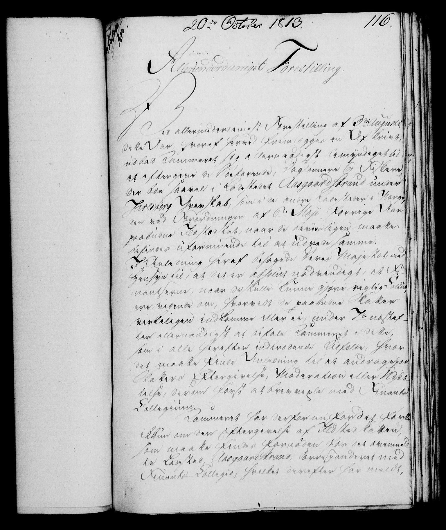 RA, Rentekammeret, Kammerkanselliet, G/Gf/Gfa/L0095: Norsk relasjons- og resolusjonsprotokoll (merket RK 52.95), 1813-1814, s. 483