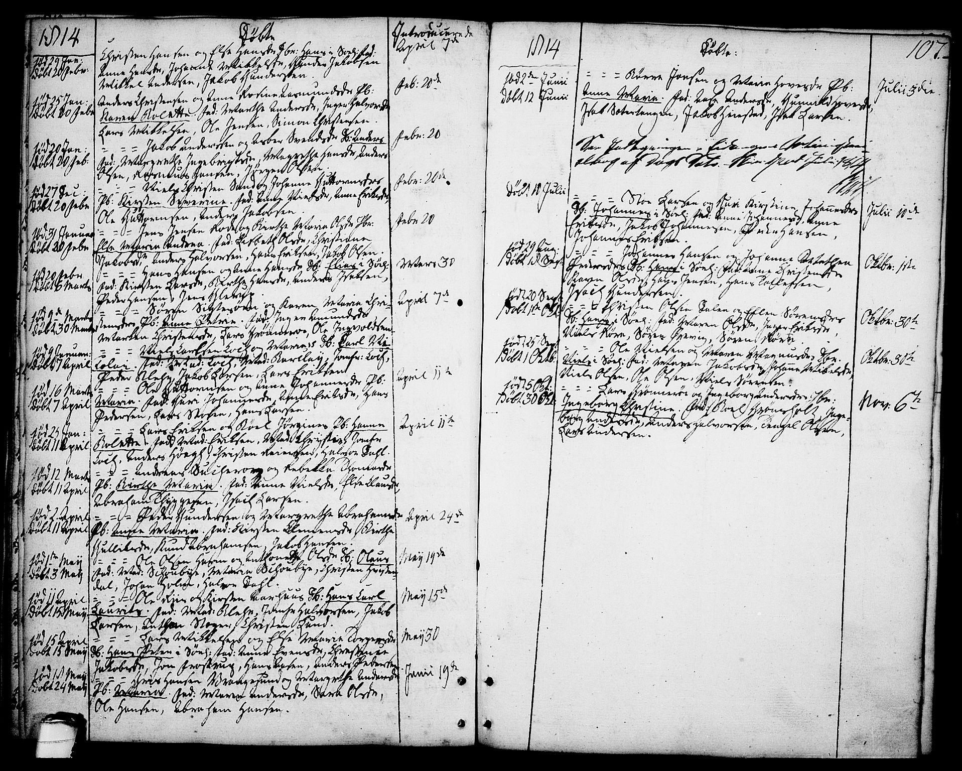 SAKO, Brevik kirkebøker, F/Fa/L0003: Ministerialbok nr. 3, 1764-1814, s. 107