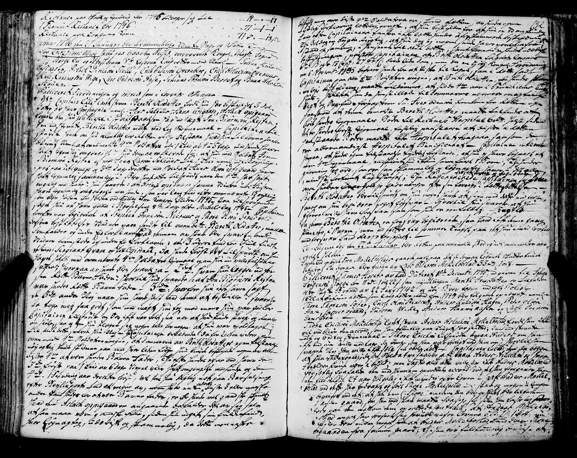 SAT, Romsdal sorenskriveri, 1/1A/L0012: Tingbok, 1740-1749, s. 152b-153a