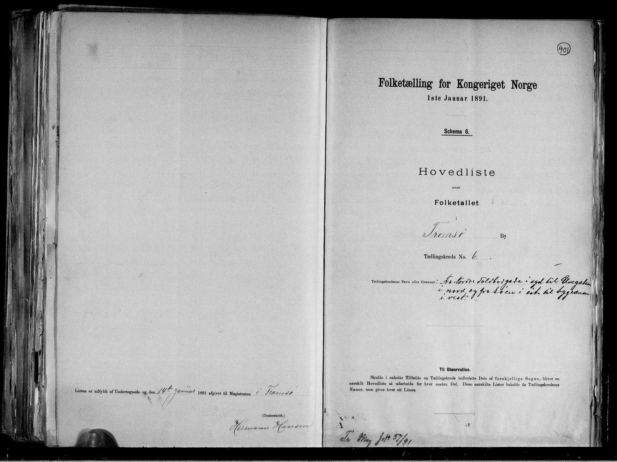 RA, Folketelling 1891 for 1902 Tromsø kjøpstad, 1891, s. 19