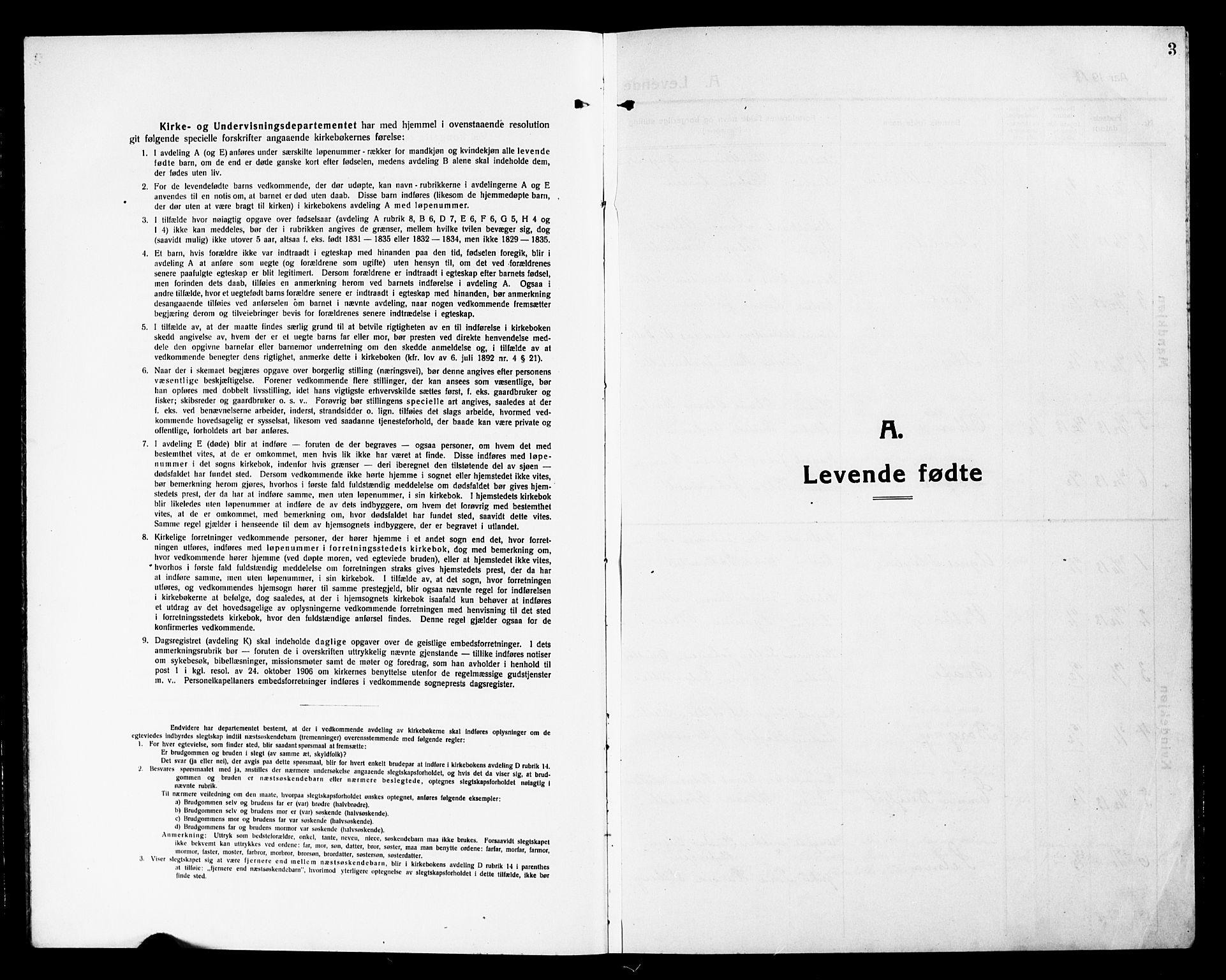SAH, Vardal prestekontor, H/Ha/Hab/L0015: Klokkerbok nr. 15, 1914-1931, s. 3