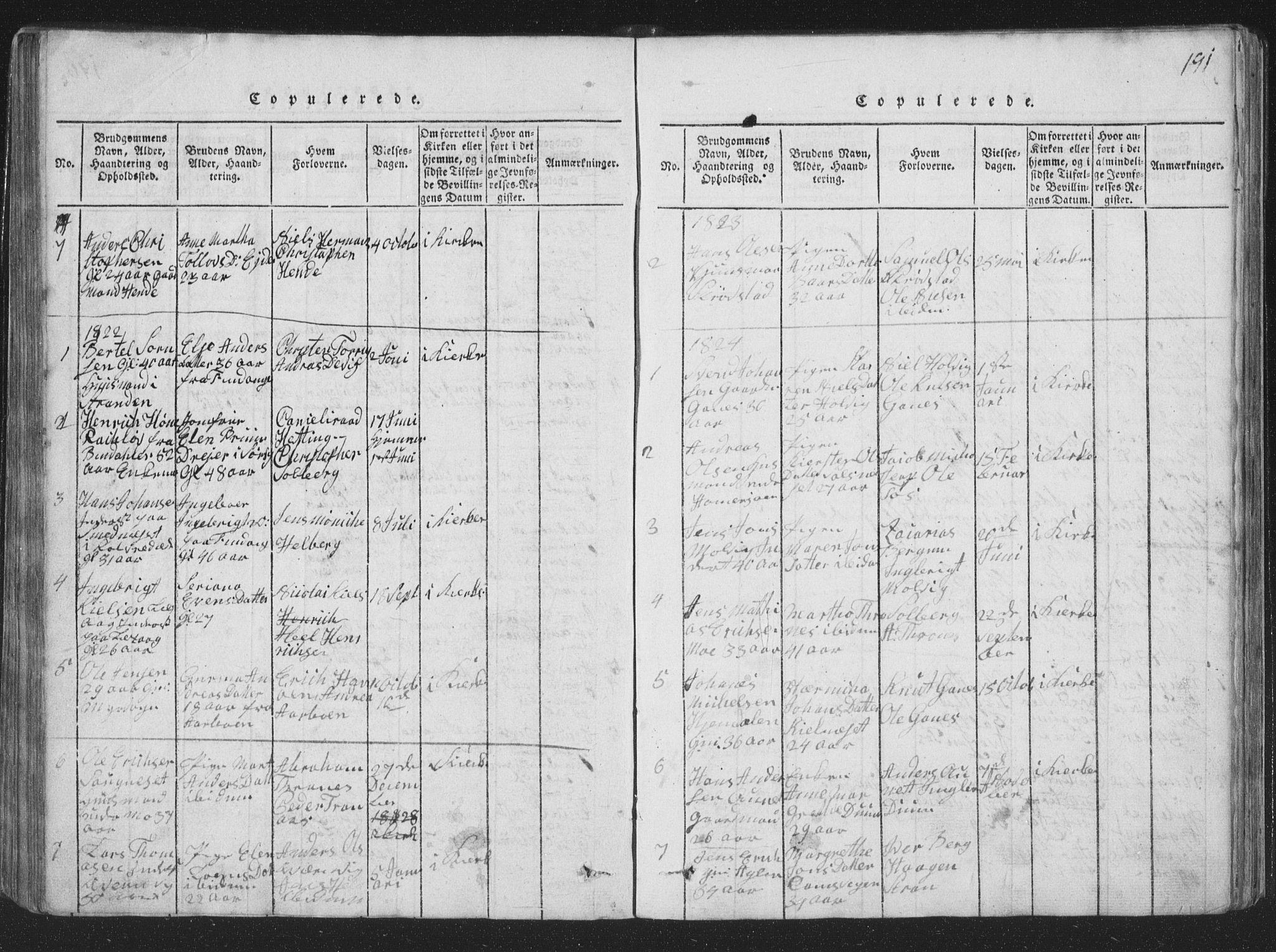 SAT, Ministerialprotokoller, klokkerbøker og fødselsregistre - Nord-Trøndelag, 773/L0613: Ministerialbok nr. 773A04, 1815-1845, s. 191