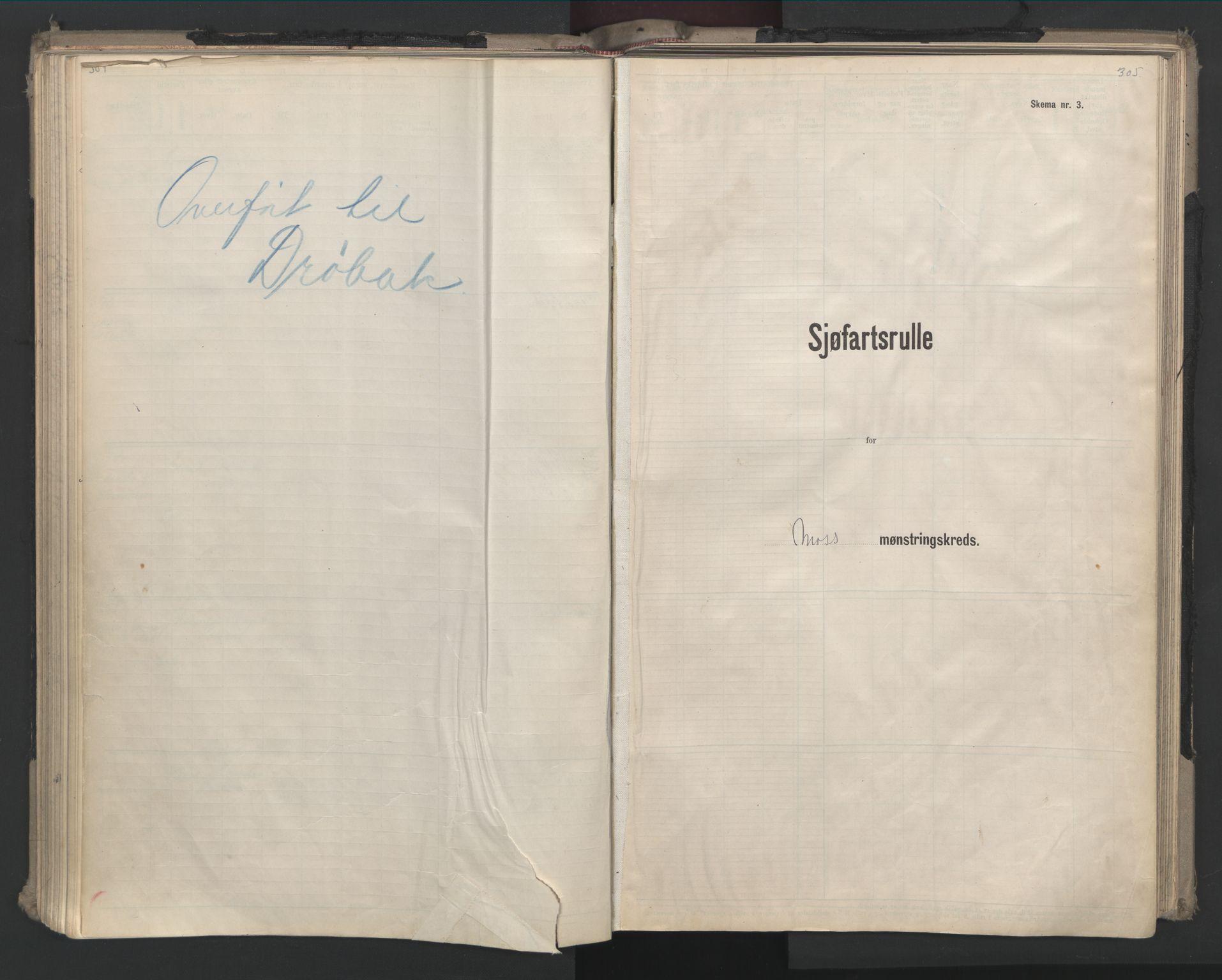 SAO, Oslo sjømannskontor, F/Fd/L0008: B-rulle, 1914, s. 304-305