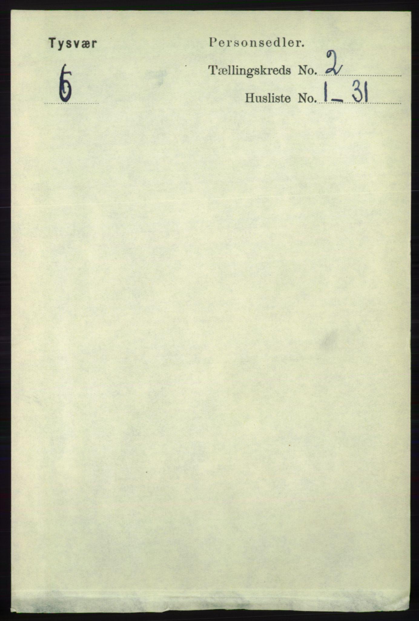 RA, Folketelling 1891 for 1146 Tysvær herred, 1891, s. 698