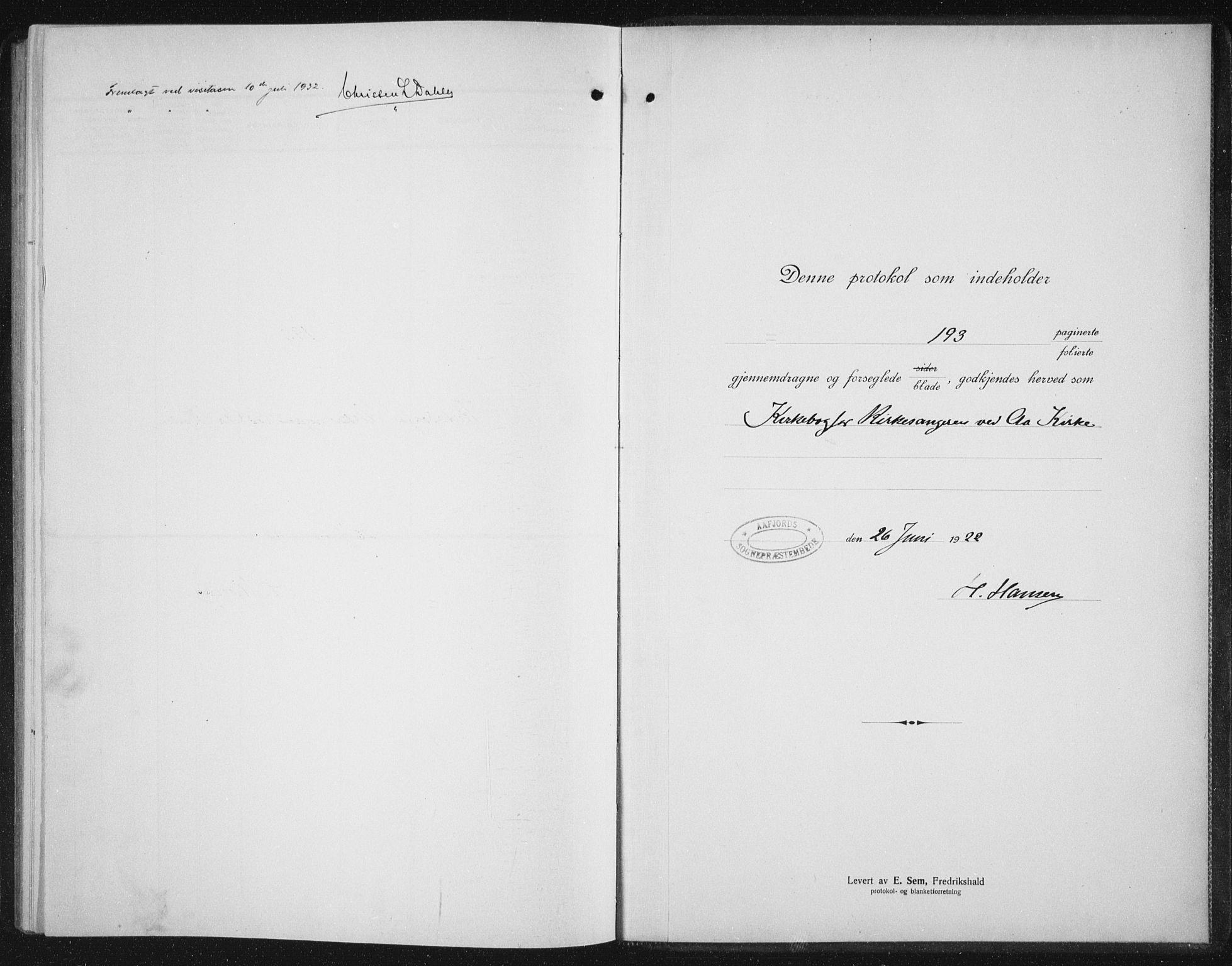 SAT, Ministerialprotokoller, klokkerbøker og fødselsregistre - Sør-Trøndelag, 655/L0689: Klokkerbok nr. 655C05, 1922-1936