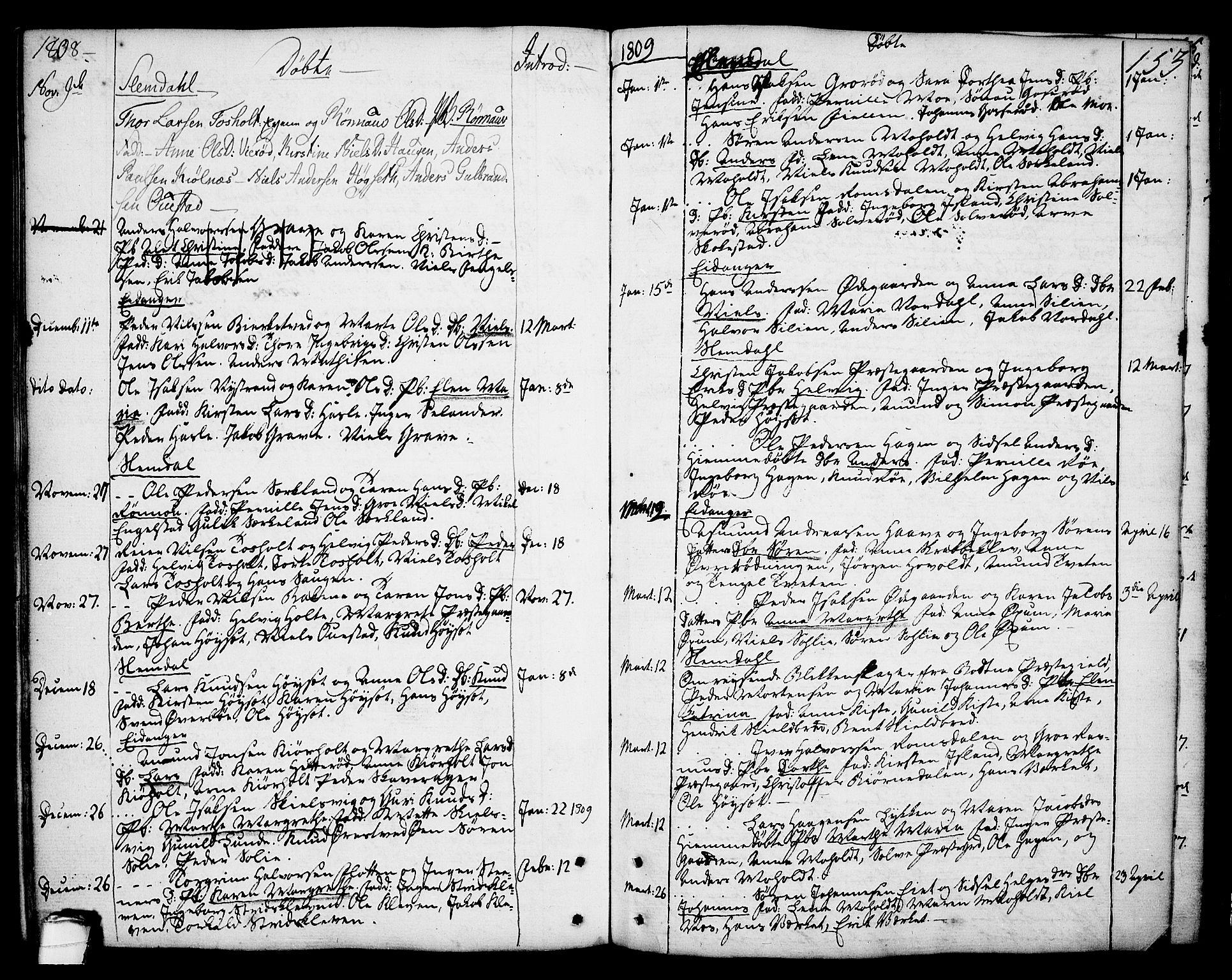 SAKO, Eidanger kirkebøker, F/Fa/L0006: Ministerialbok nr. 6, 1764-1814, s. 153