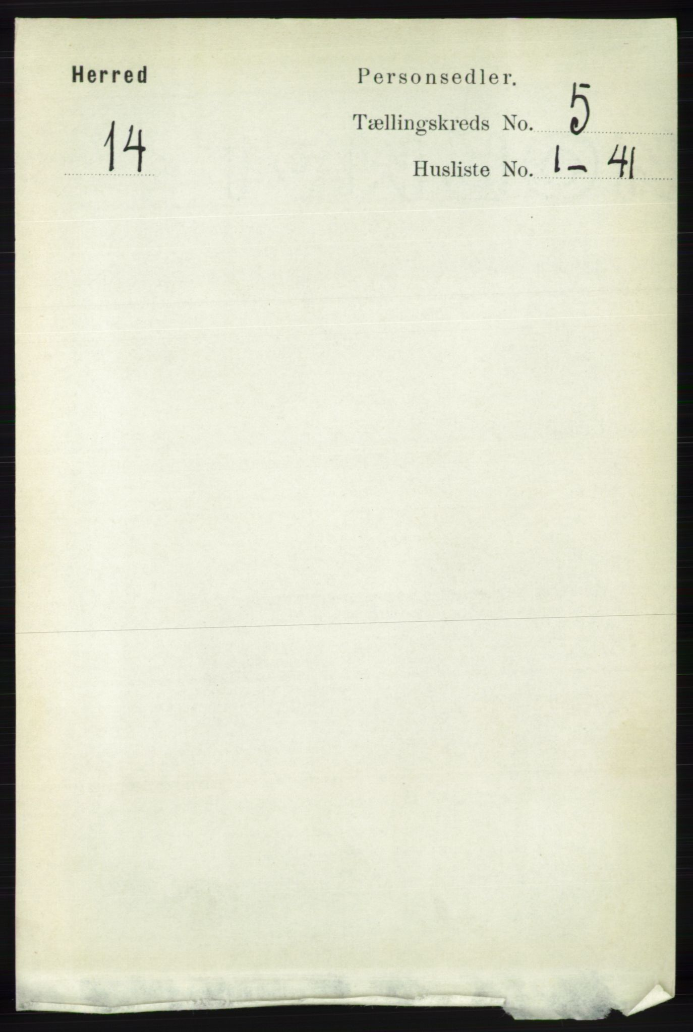 RA, Folketelling 1891 for 1039 Herad herred, 1891, s. 1809