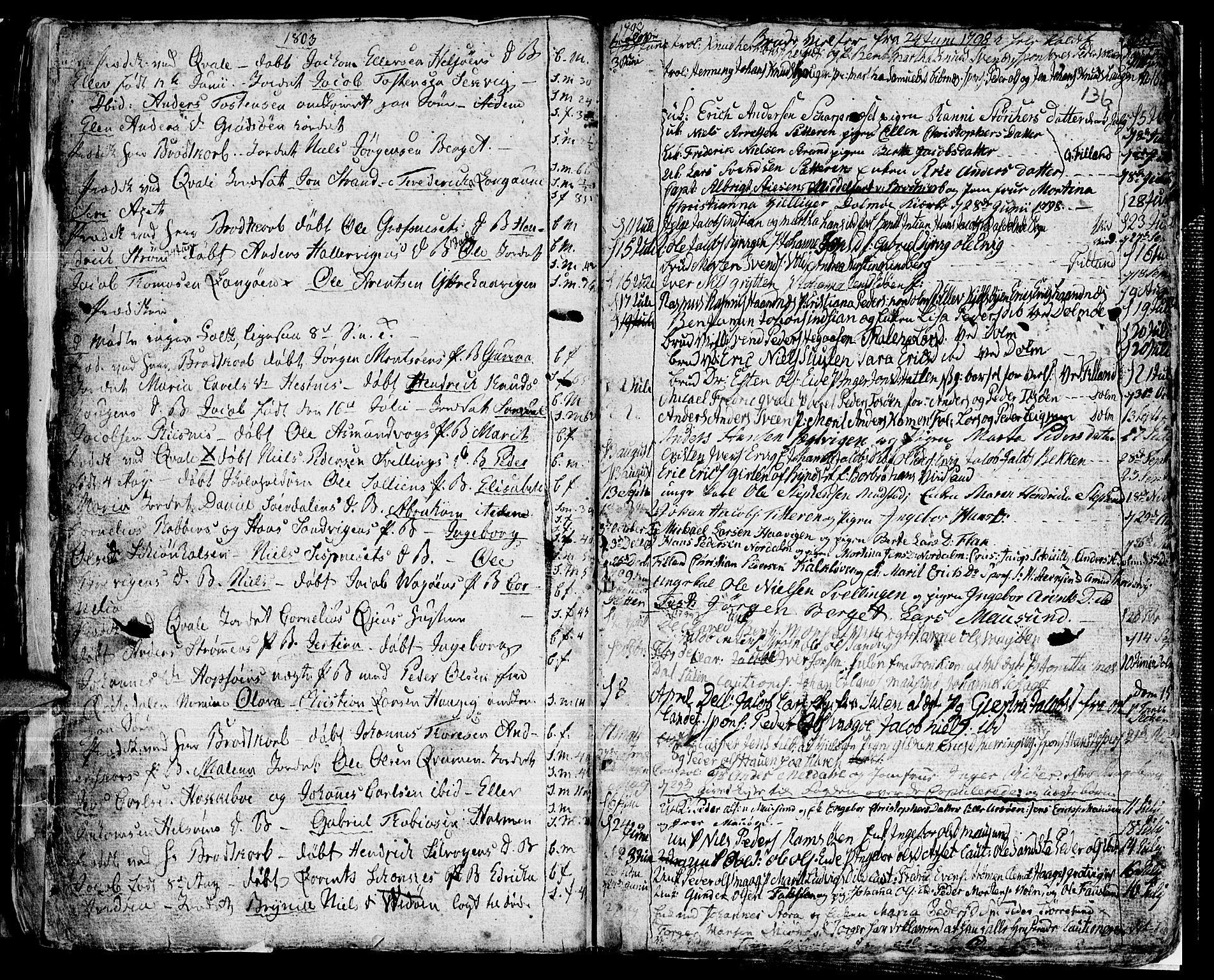SAT, Ministerialprotokoller, klokkerbøker og fødselsregistre - Sør-Trøndelag, 634/L0526: Ministerialbok nr. 634A02, 1775-1818, s. 136