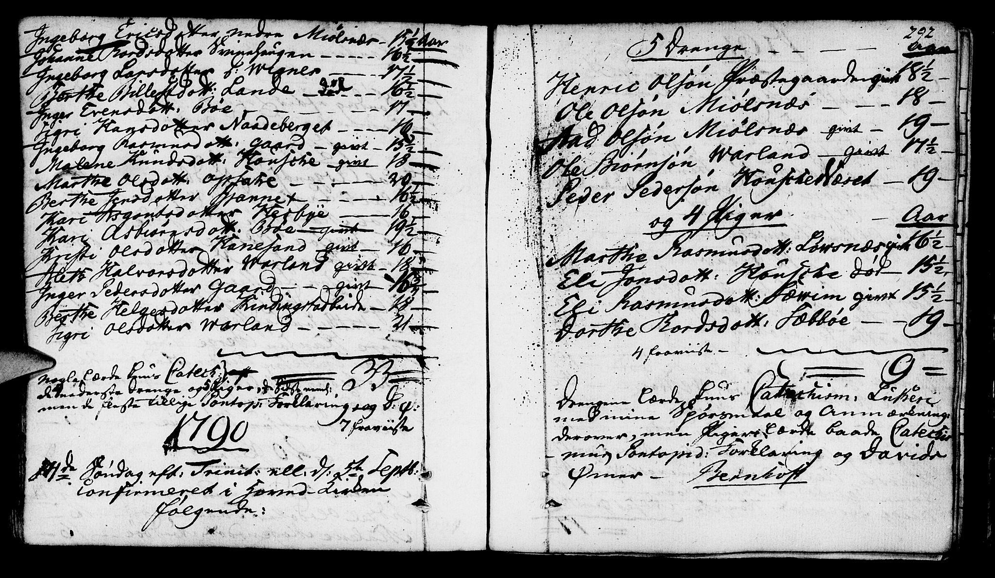 SAST, Finnøy sokneprestkontor, H/Ha/Haa/L0005: Ministerialbok nr. A 5, 1773-1816, s. 292