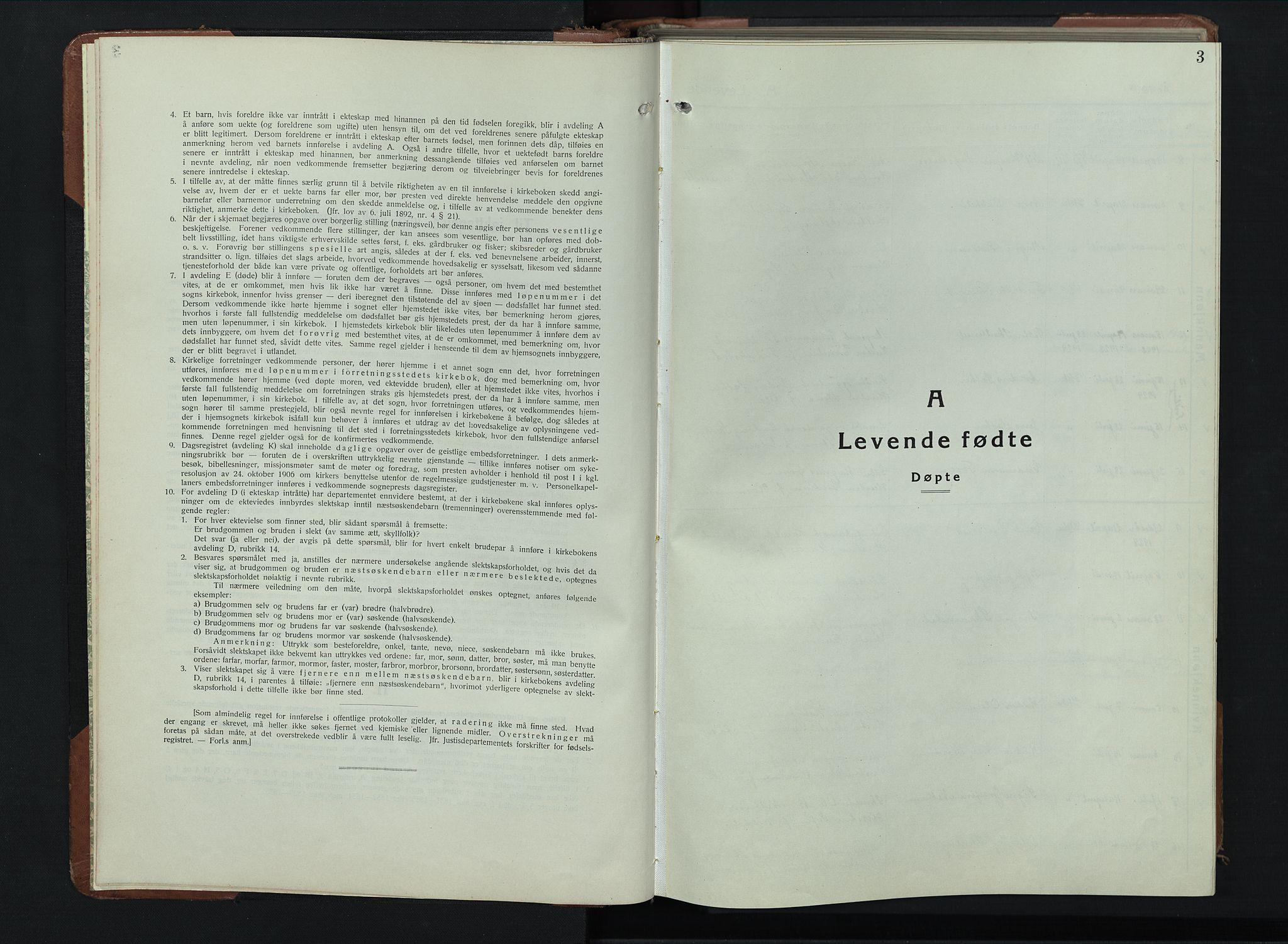 SAH, Balke prestekontor, Klokkerbok nr. 2, 1929-1951, s. 3