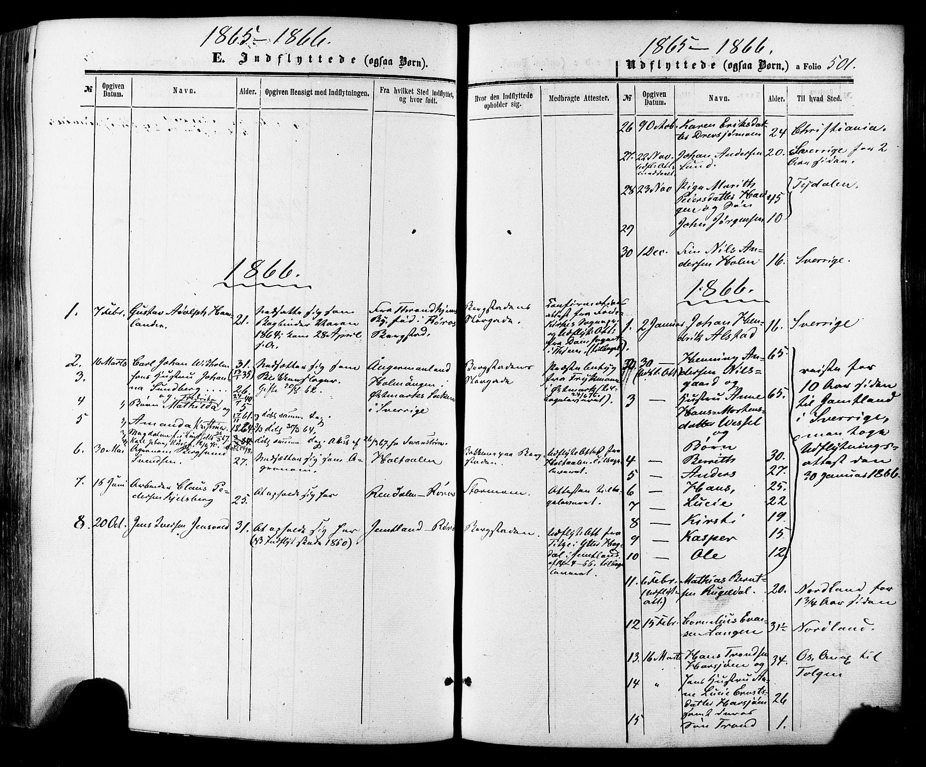 SAT, Ministerialprotokoller, klokkerbøker og fødselsregistre - Sør-Trøndelag, 681/L0932: Ministerialbok nr. 681A10, 1860-1878, s. 501