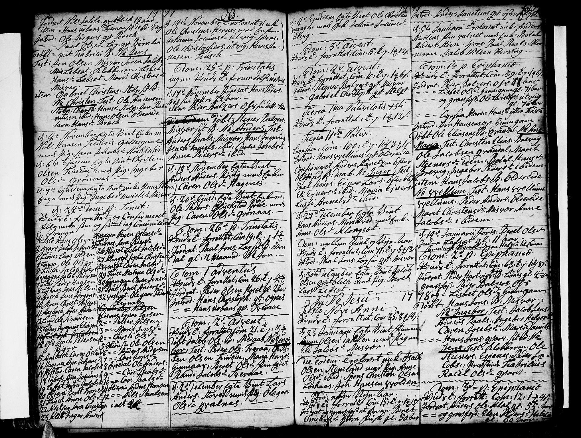 SAT, Ministerialprotokoller, klokkerbøker og fødselsregistre - Nordland, 852/L0735: Ministerialbok nr. 852A05, 1762-1820, s. 77