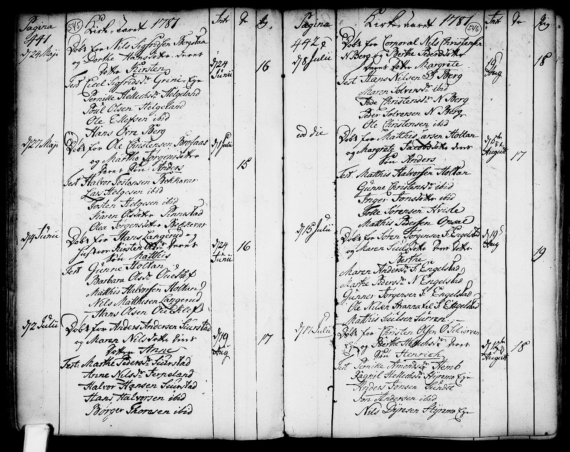 SAKO, Lardal kirkebøker, F/Fa/L0003: Ministerialbok nr. I 3, 1733-1815, s. 545-546