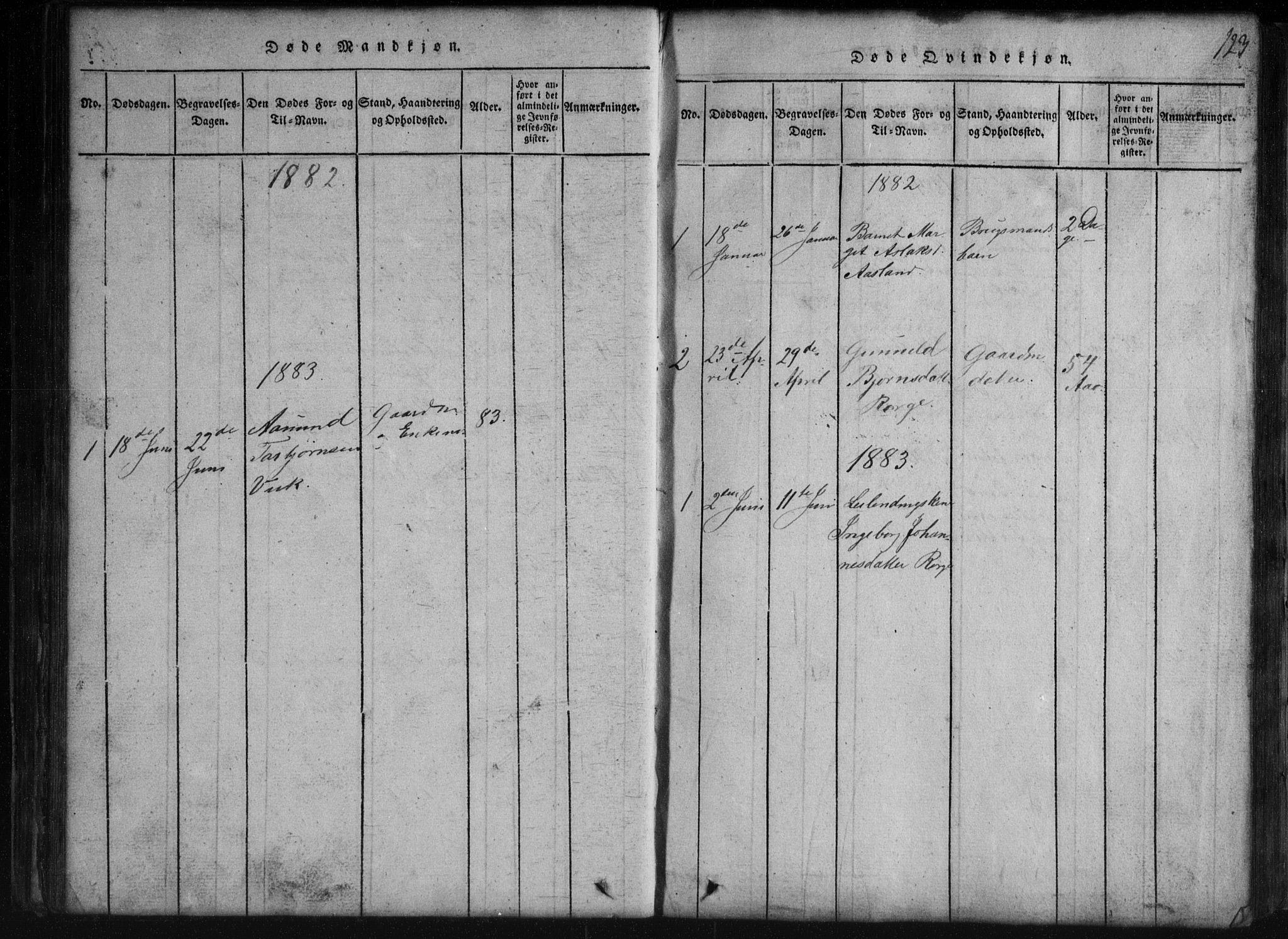SAKO, Rauland kirkebøker, G/Gb/L0001: Klokkerbok nr. II 1, 1815-1886, s. 123