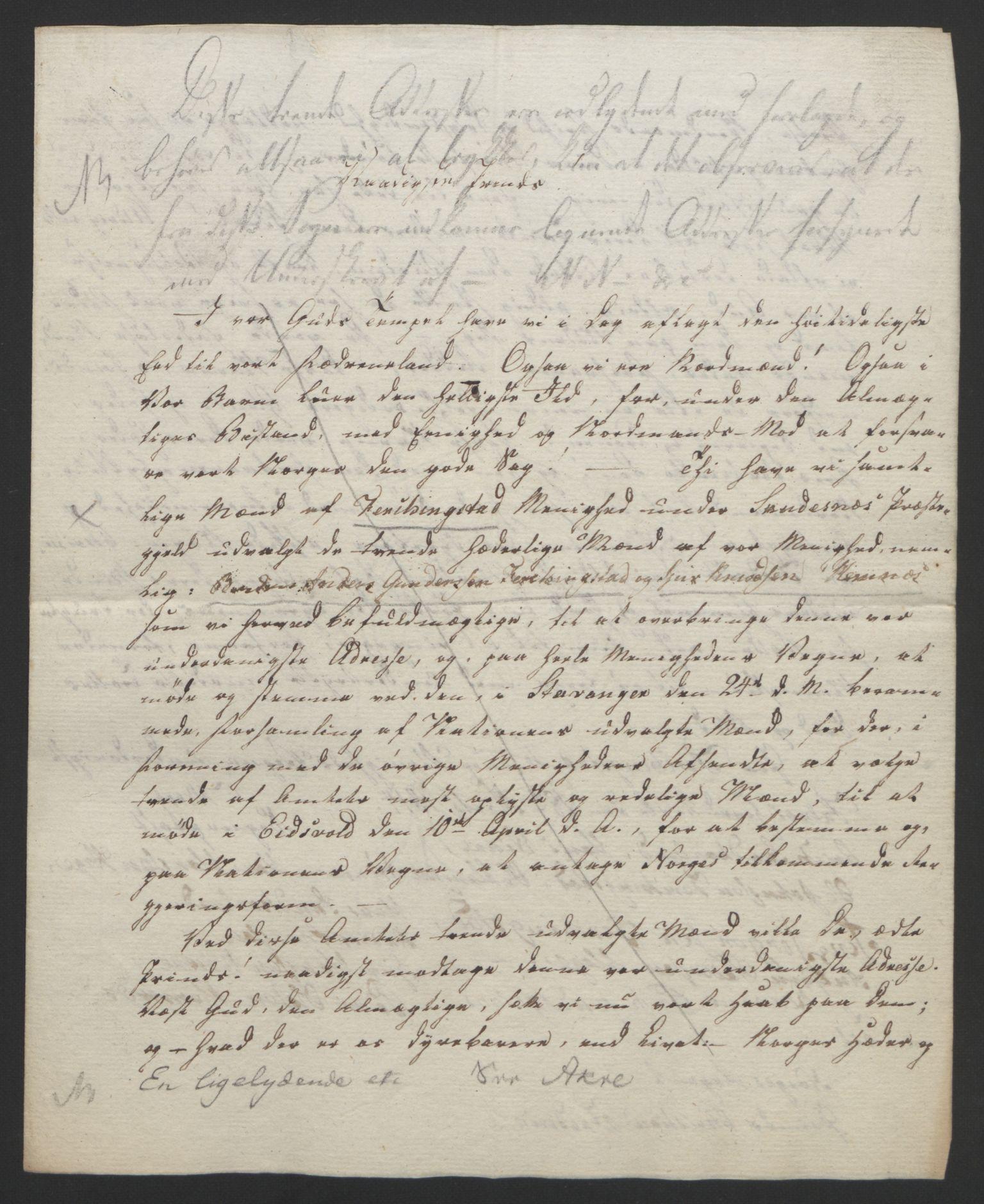 RA, Statsrådssekretariatet, D/Db/L0008: Fullmakter for Eidsvollsrepresentantene i 1814. , 1814, s. 249