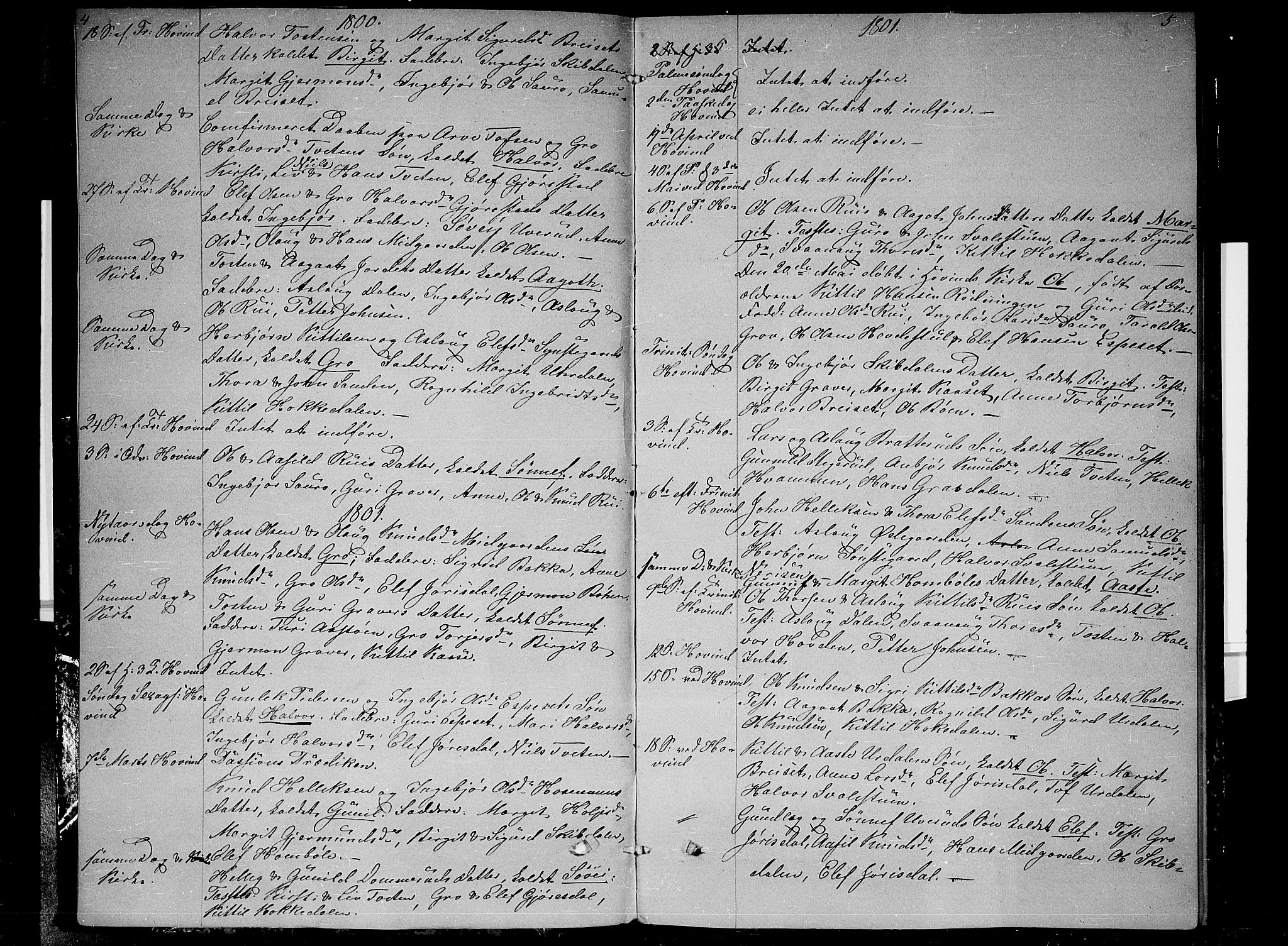 SAKO, Gransherad kirkebøker, F/Fb/L0001: Ministerialbok nr. II 1, 1800-1814, s. 4-5