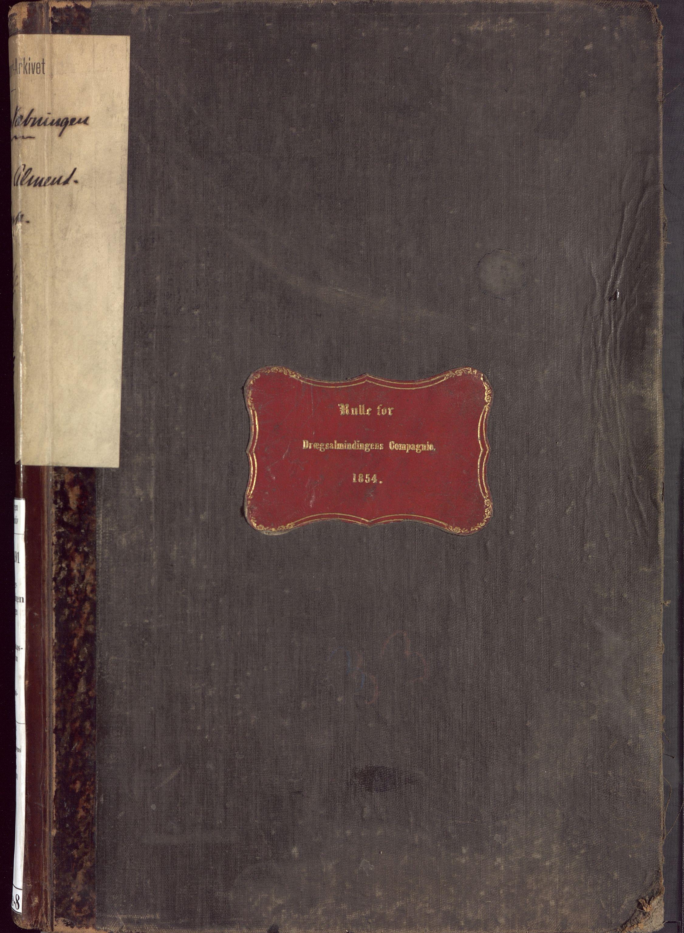 BBA, Borgervæpningen i Bergen, G/Ge/L0008: Dreggsalmenningens artilleri kompani, 1854-1881