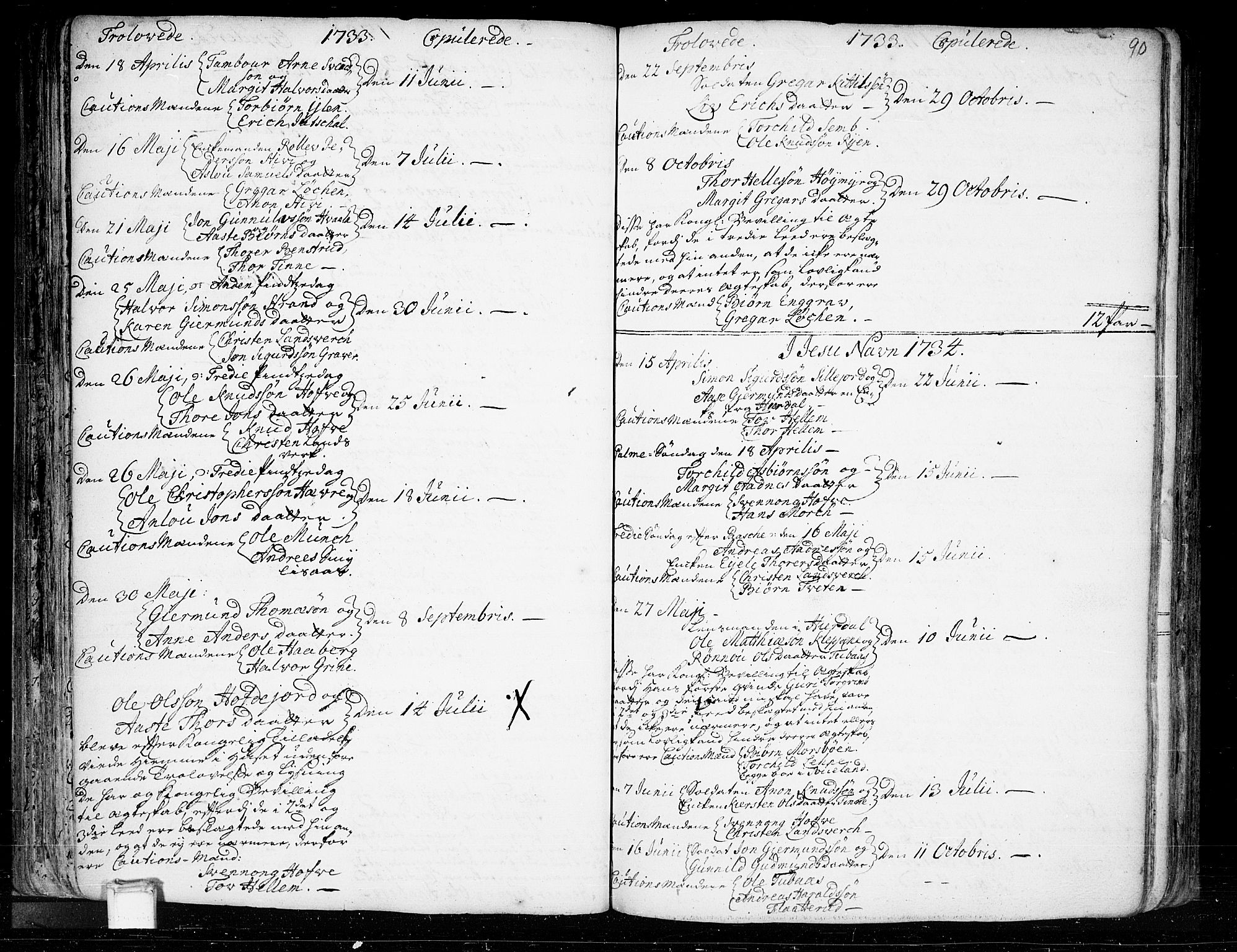 SAKO, Heddal kirkebøker, F/Fa/L0003: Ministerialbok nr. I 3, 1723-1783, s. 90