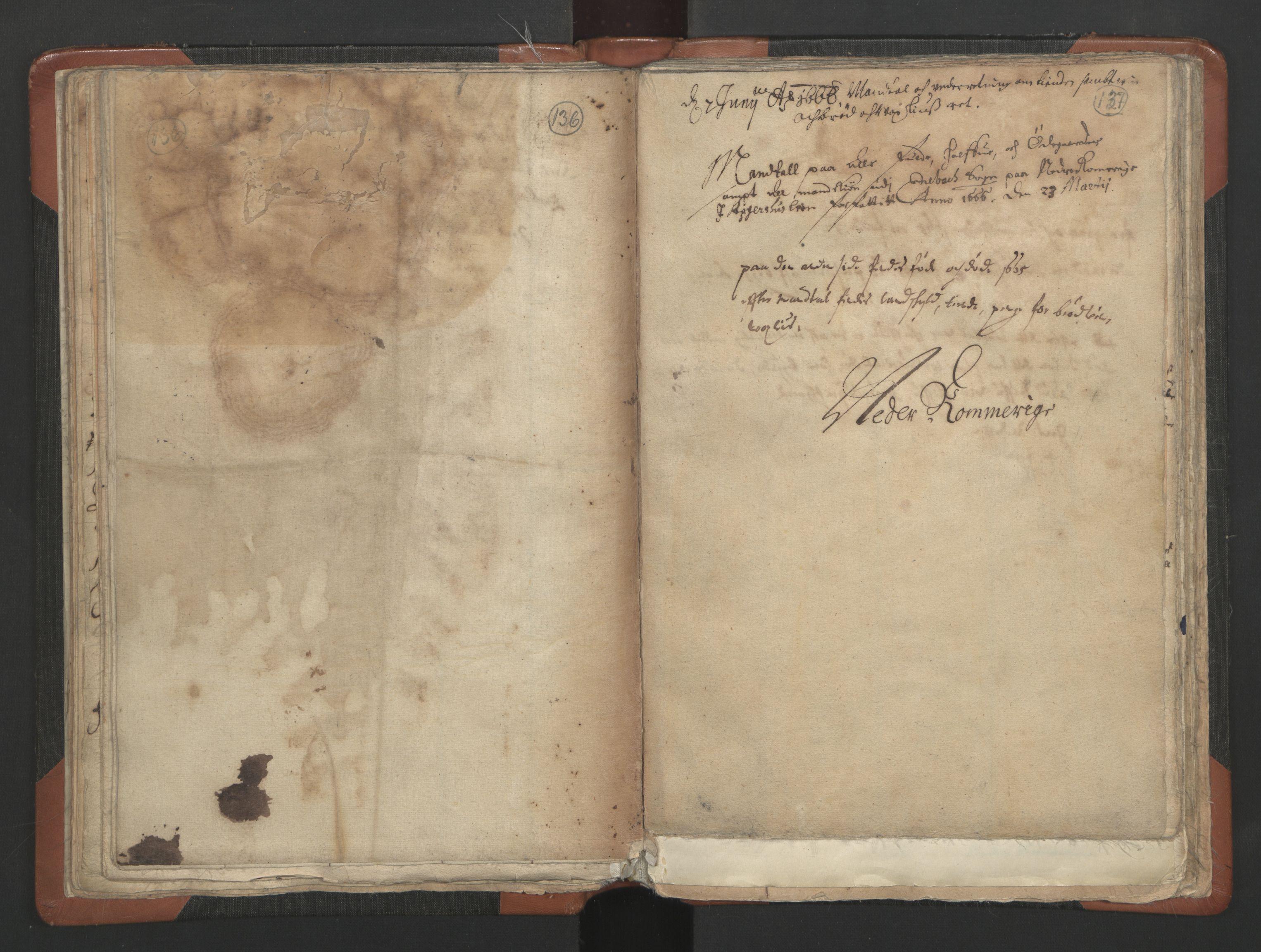 RA, Sogneprestenes manntall 1664-1666, nr. 3: Nedre Romerike prosti, 1664-1666, s. 136-137