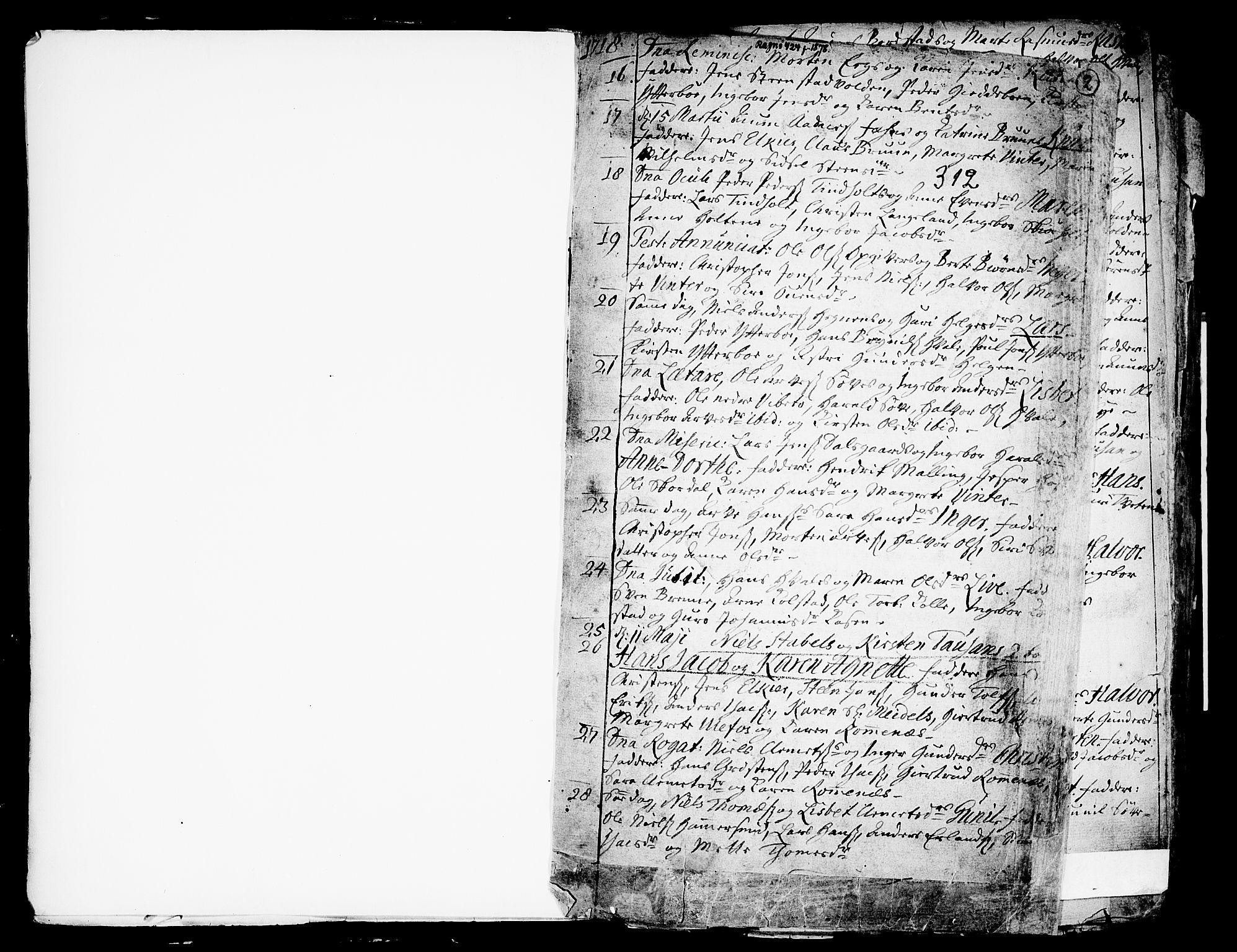 SAKO, Holla kirkebøker, F/Fa/L0001: Ministerialbok nr. 1, 1717-1779, s. 2