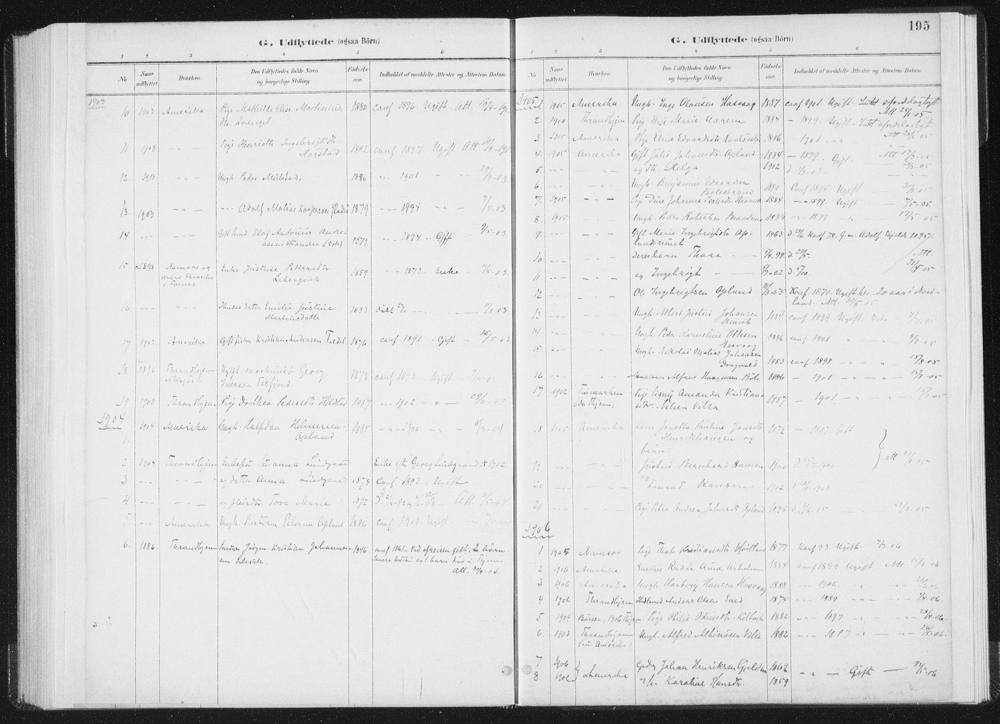 SAT, Ministerialprotokoller, klokkerbøker og fødselsregistre - Nord-Trøndelag, 771/L0597: Ministerialbok nr. 771A04, 1885-1910, s. 195