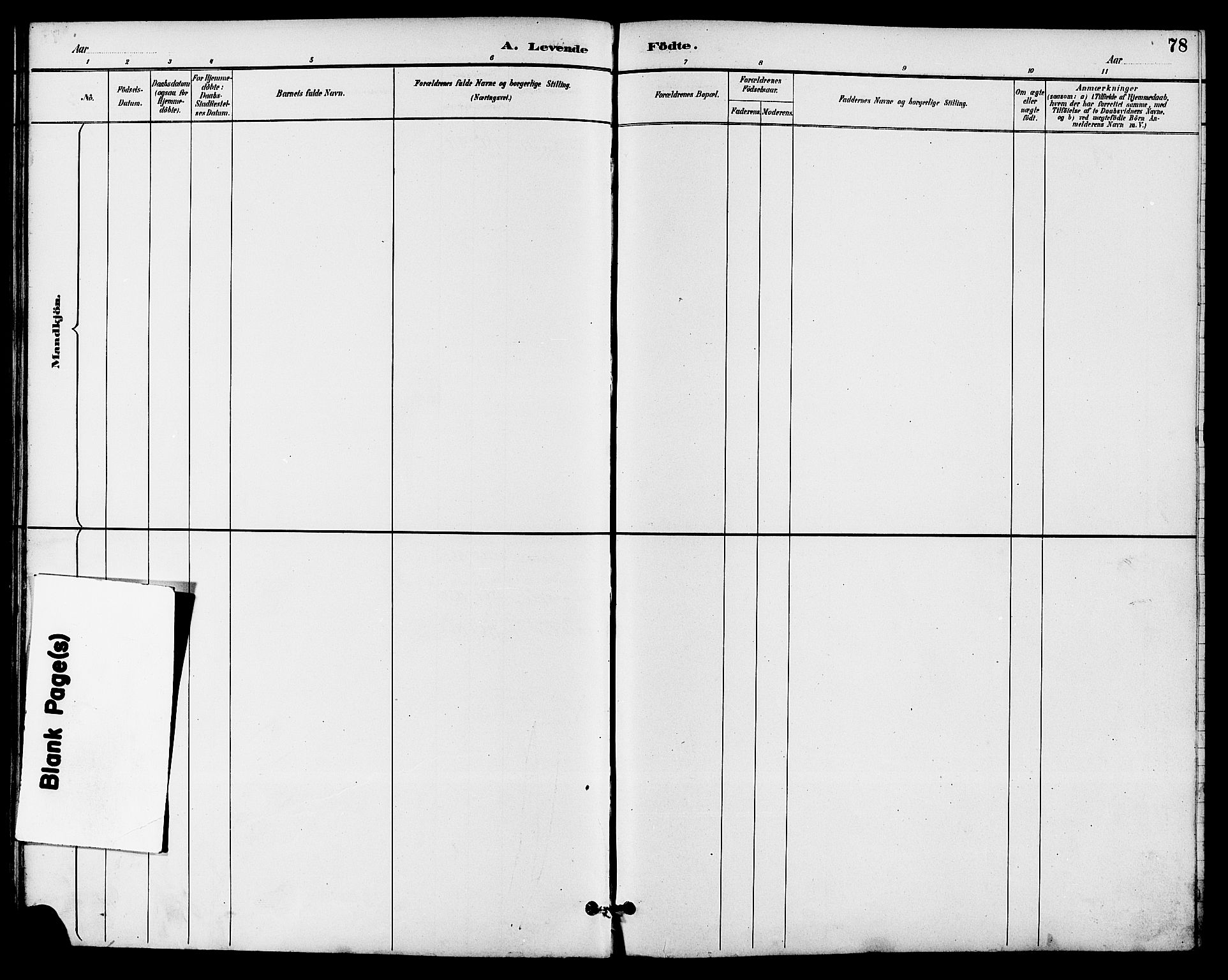 SAKO, Seljord kirkebøker, G/Ga/L0005: Klokkerbok nr. I 5, 1887-1914, s. 78
