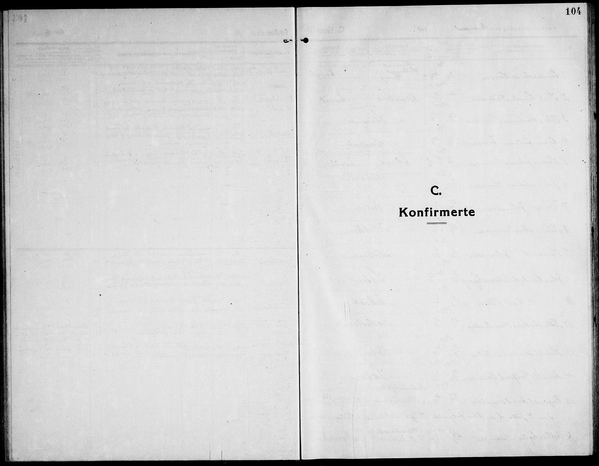 SAT, Ministerialprotokoller, klokkerbøker og fødselsregistre - Sør-Trøndelag, 651/L0648: Klokkerbok nr. 651C02, 1915-1945, s. 104