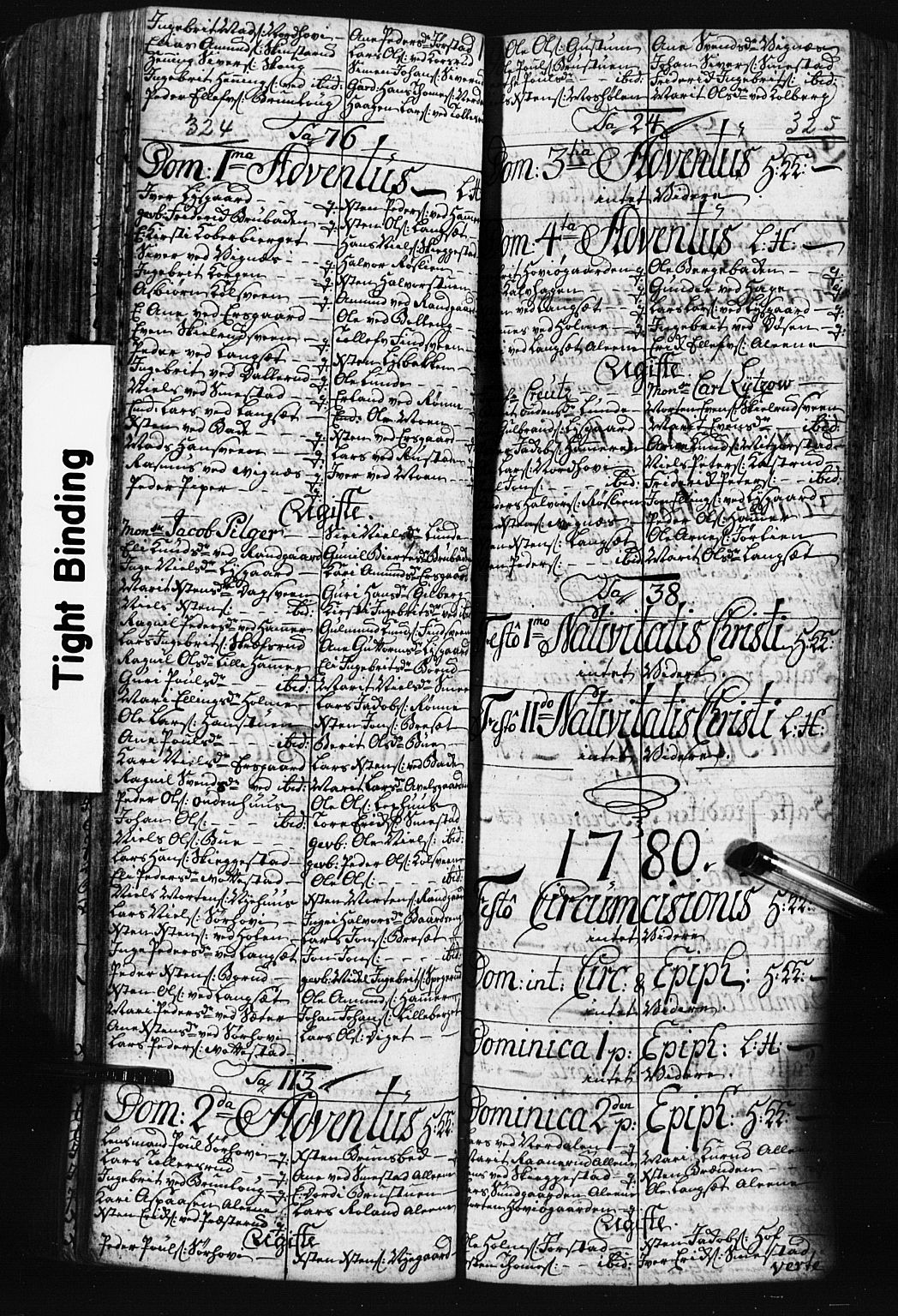 SAH, Fåberg prestekontor, Klokkerbok nr. 3, 1768-1796, s. 324-325