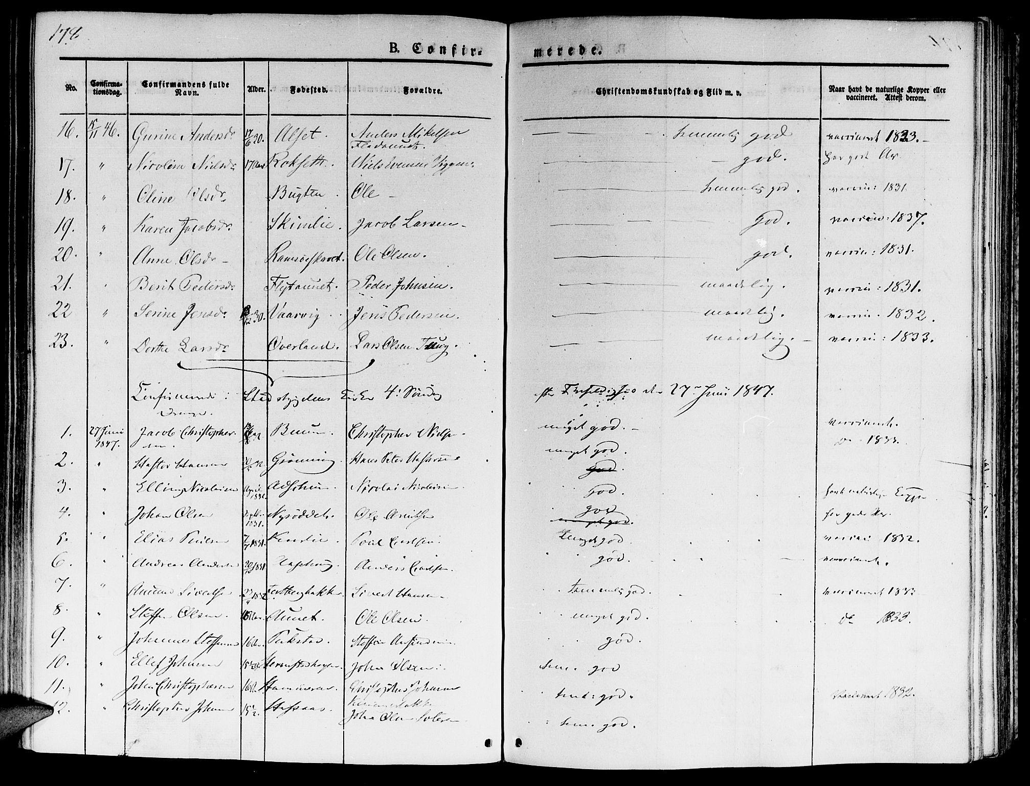 SAT, Ministerialprotokoller, klokkerbøker og fødselsregistre - Sør-Trøndelag, 646/L0610: Ministerialbok nr. 646A08, 1837-1847, s. 178