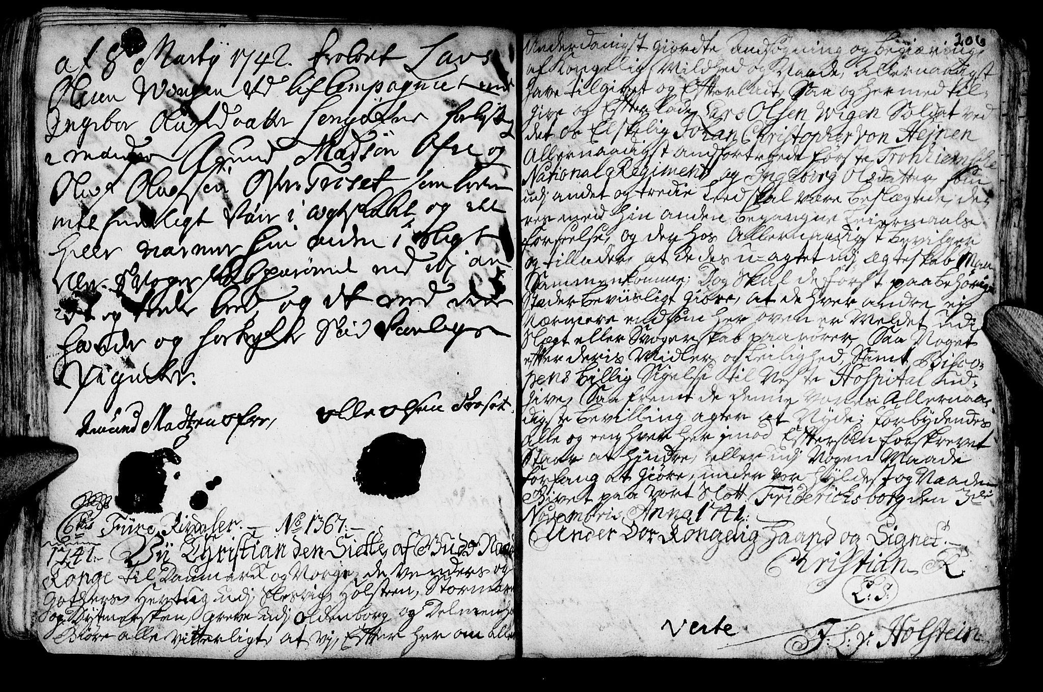 SAT, Ministerialprotokoller, klokkerbøker og fødselsregistre - Nord-Trøndelag, 722/L0215: Ministerialbok nr. 722A02, 1718-1755, s. 206