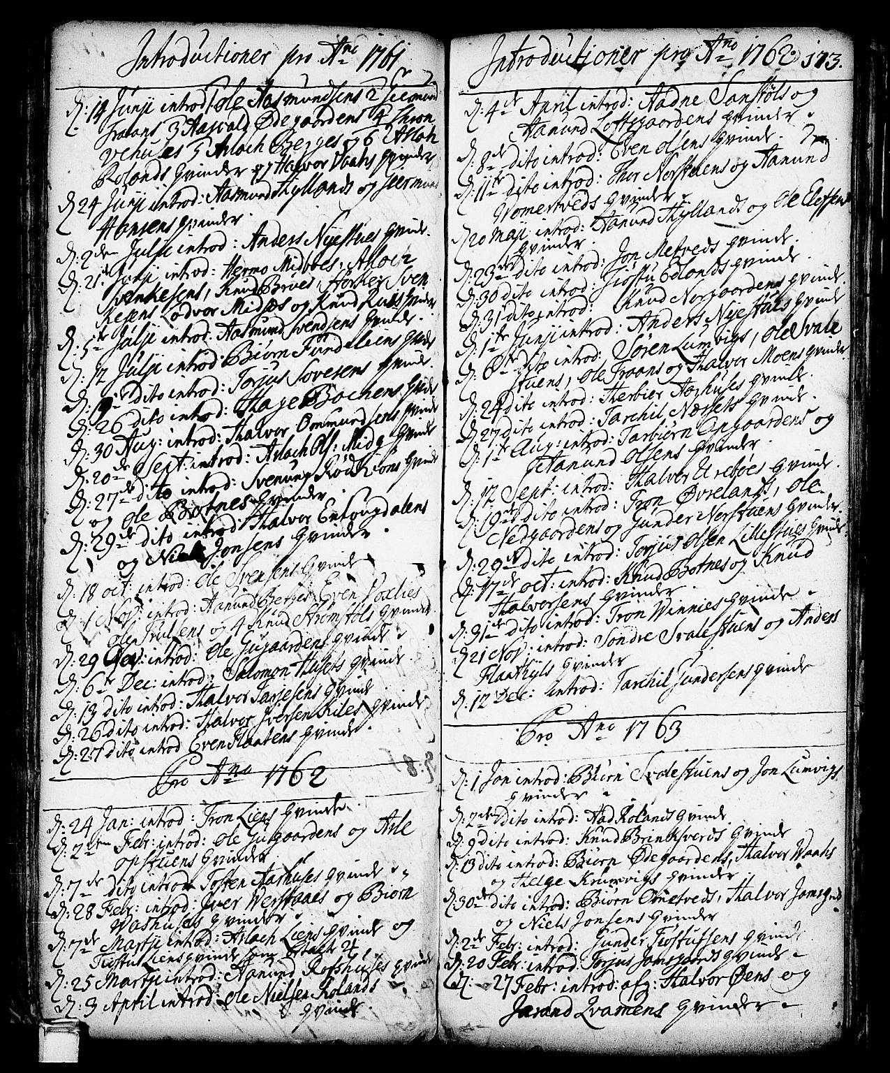 SAKO, Vinje kirkebøker, F/Fa/L0001: Ministerialbok nr. I 1, 1717-1766, s. 173