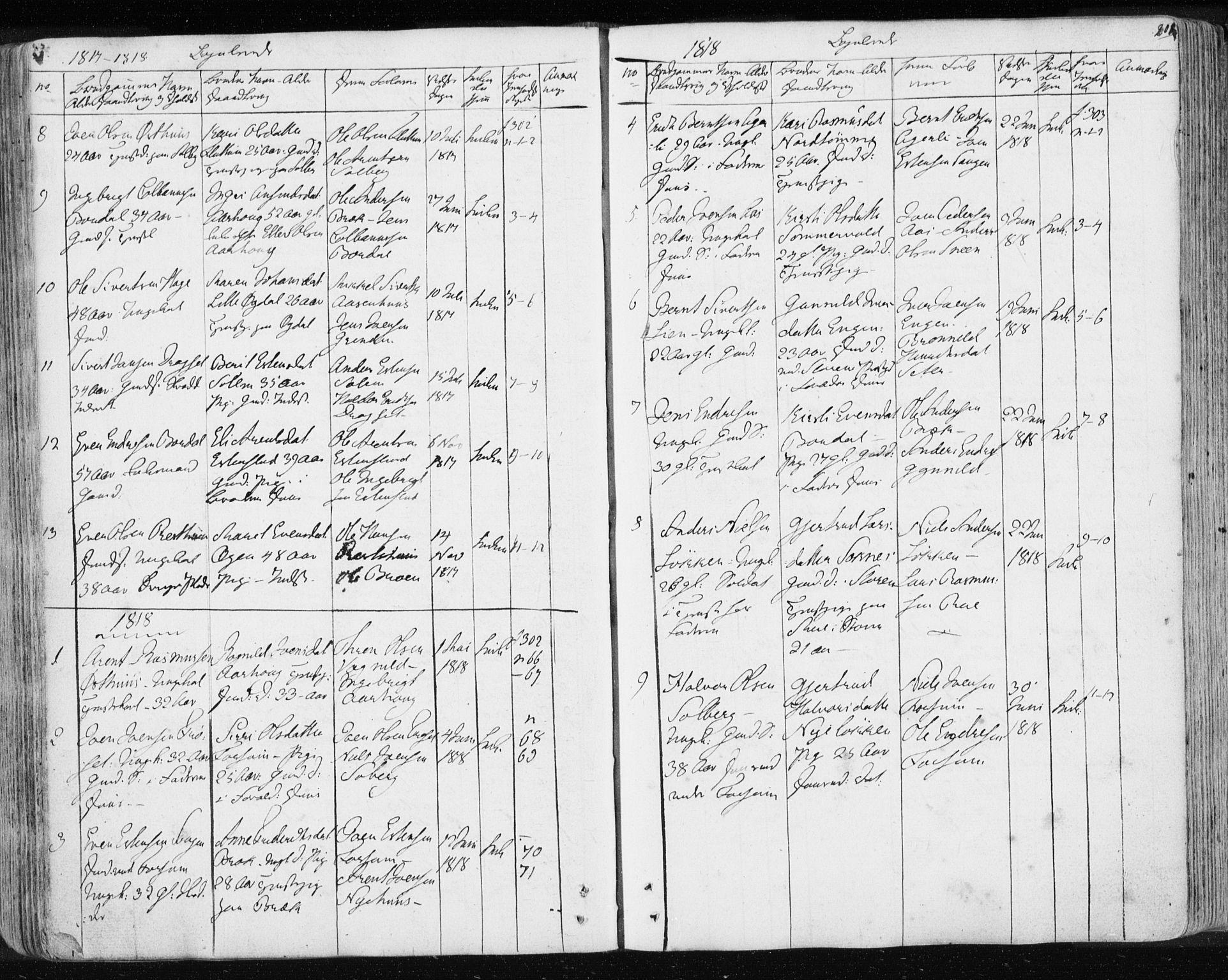 SAT, Ministerialprotokoller, klokkerbøker og fødselsregistre - Sør-Trøndelag, 689/L1043: Klokkerbok nr. 689C02, 1816-1892, s. 201