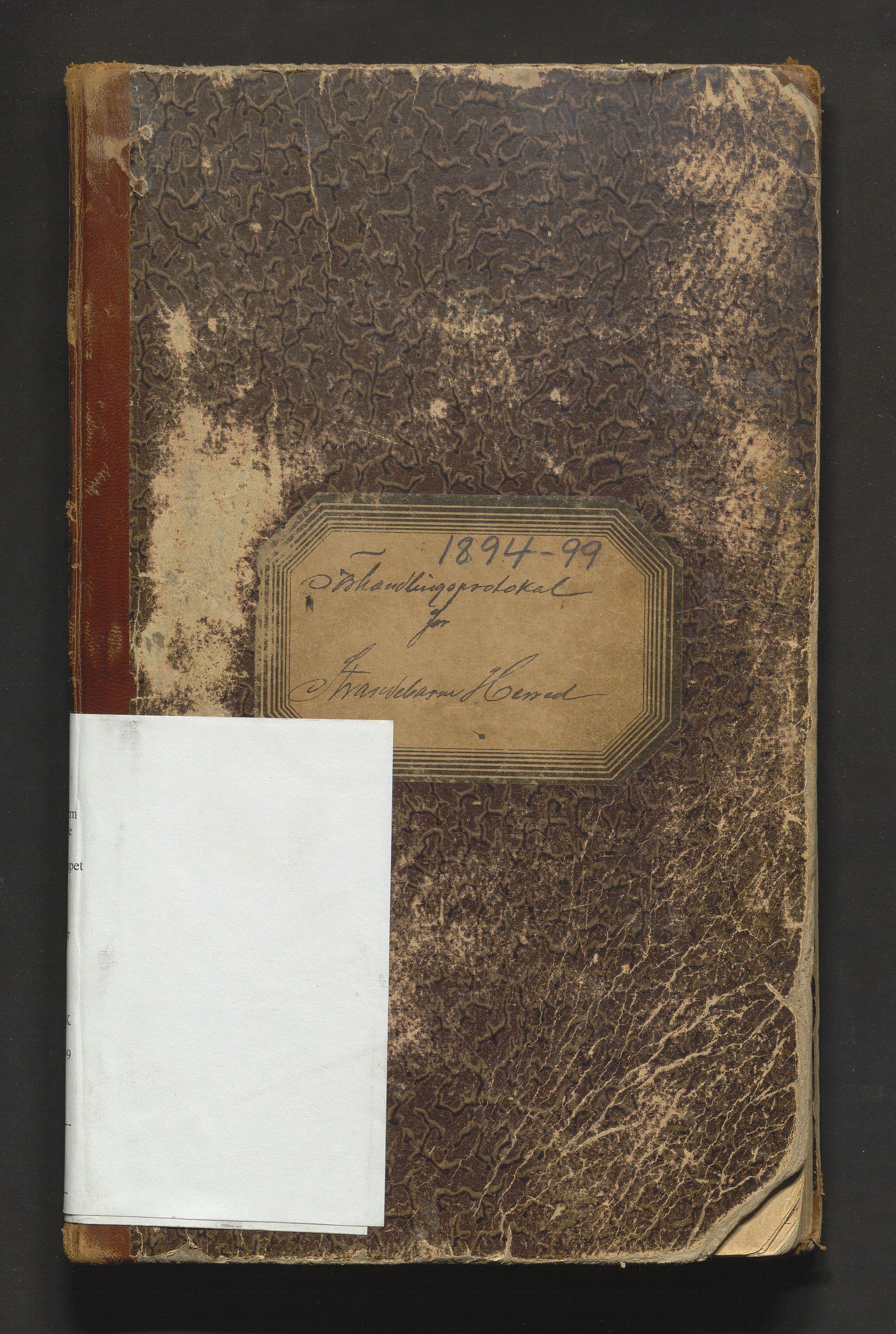 IKAH, Strandebarm kommune. Formannskapet, A/Aa/L0004: Møtebok for formannskap og heradsstyre, 1894-1899