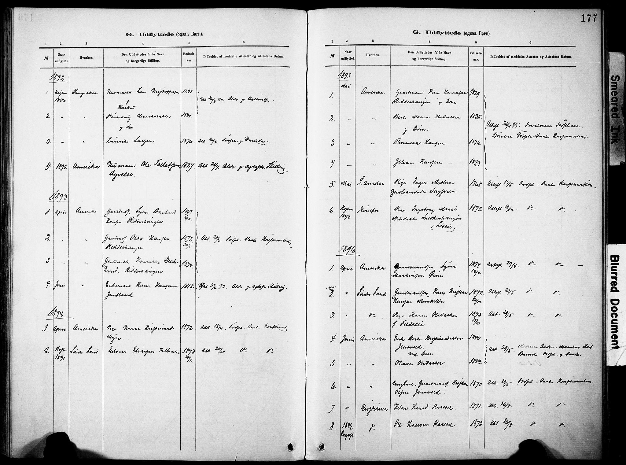 SAH, Nordre Land prestekontor, Ministerialbok nr. 5, 1882-1903, s. 177